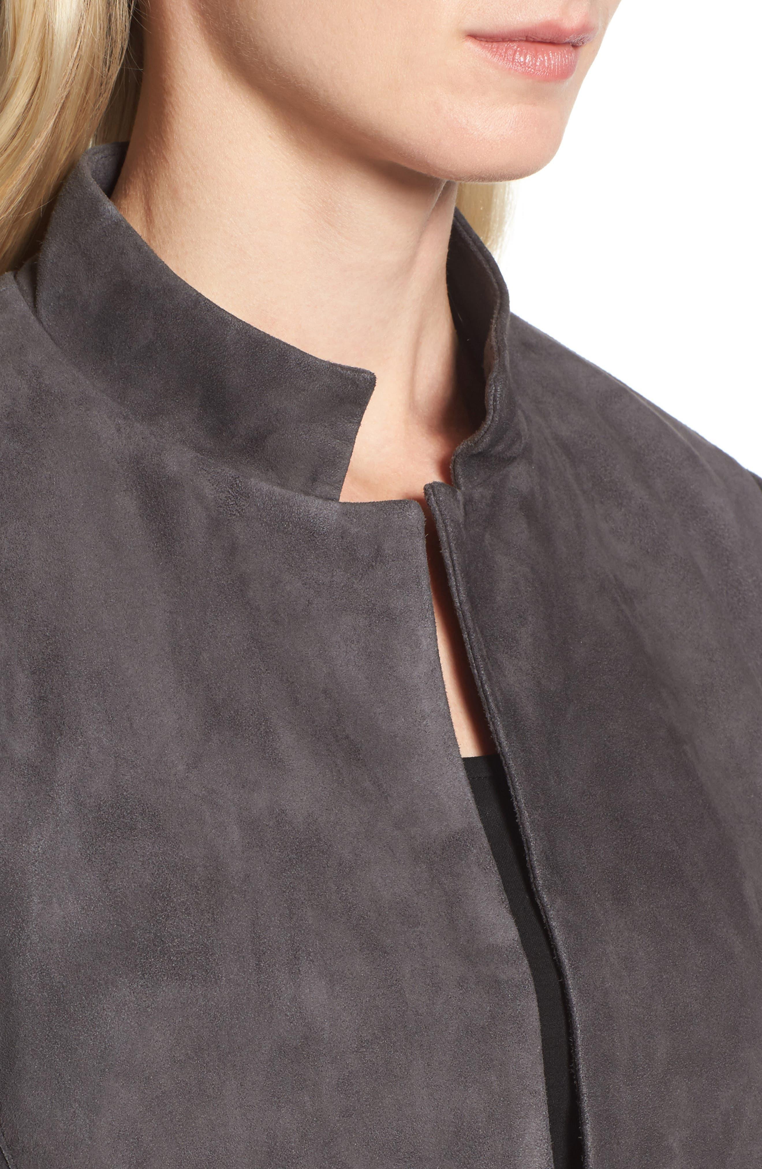 Suede Jacket,                             Alternate thumbnail 4, color,                             Bark