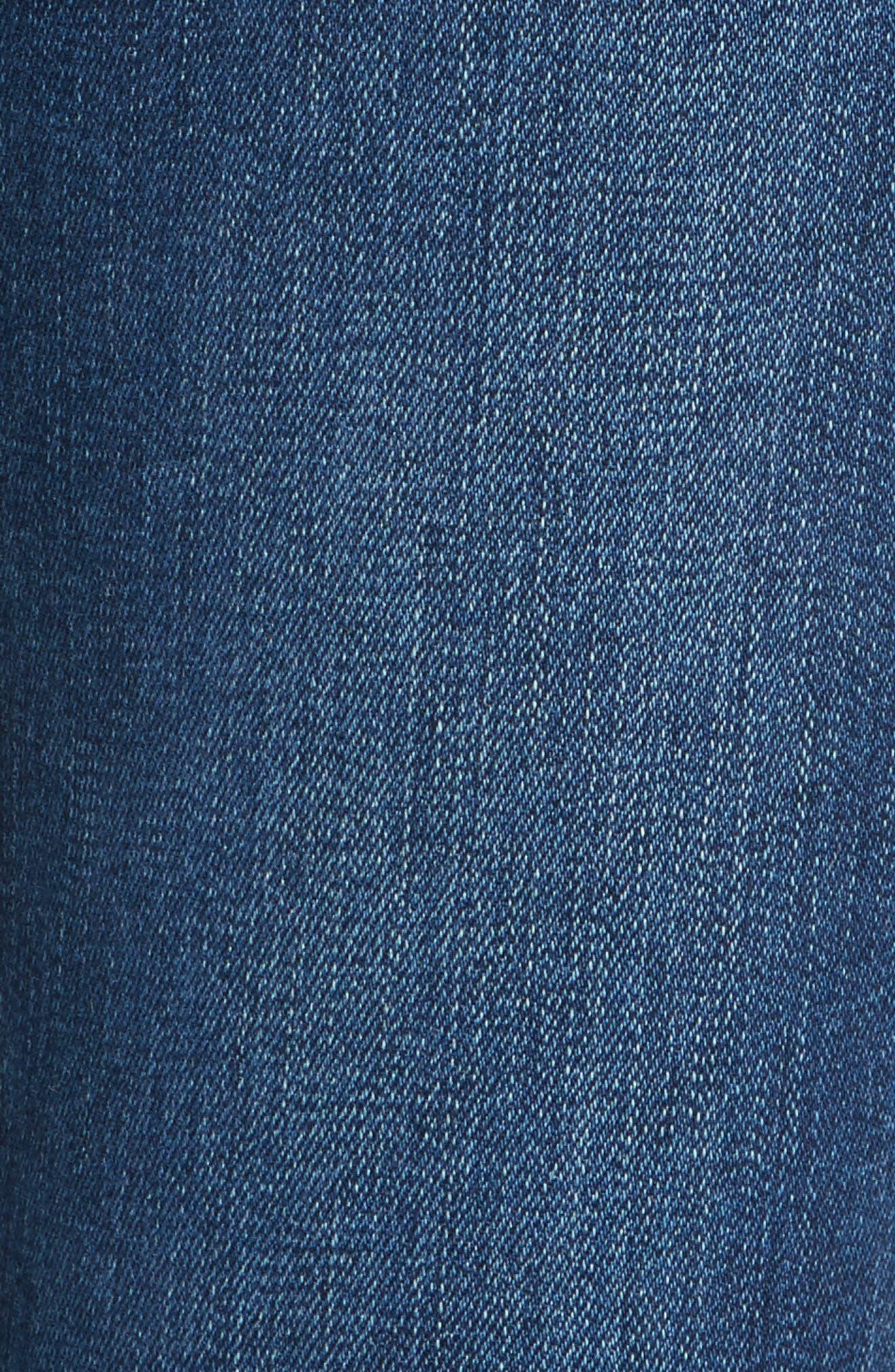 Alternate Image 5  - FRAME Le High High Waist Staggered Hem Slim Jeans (Baisley)