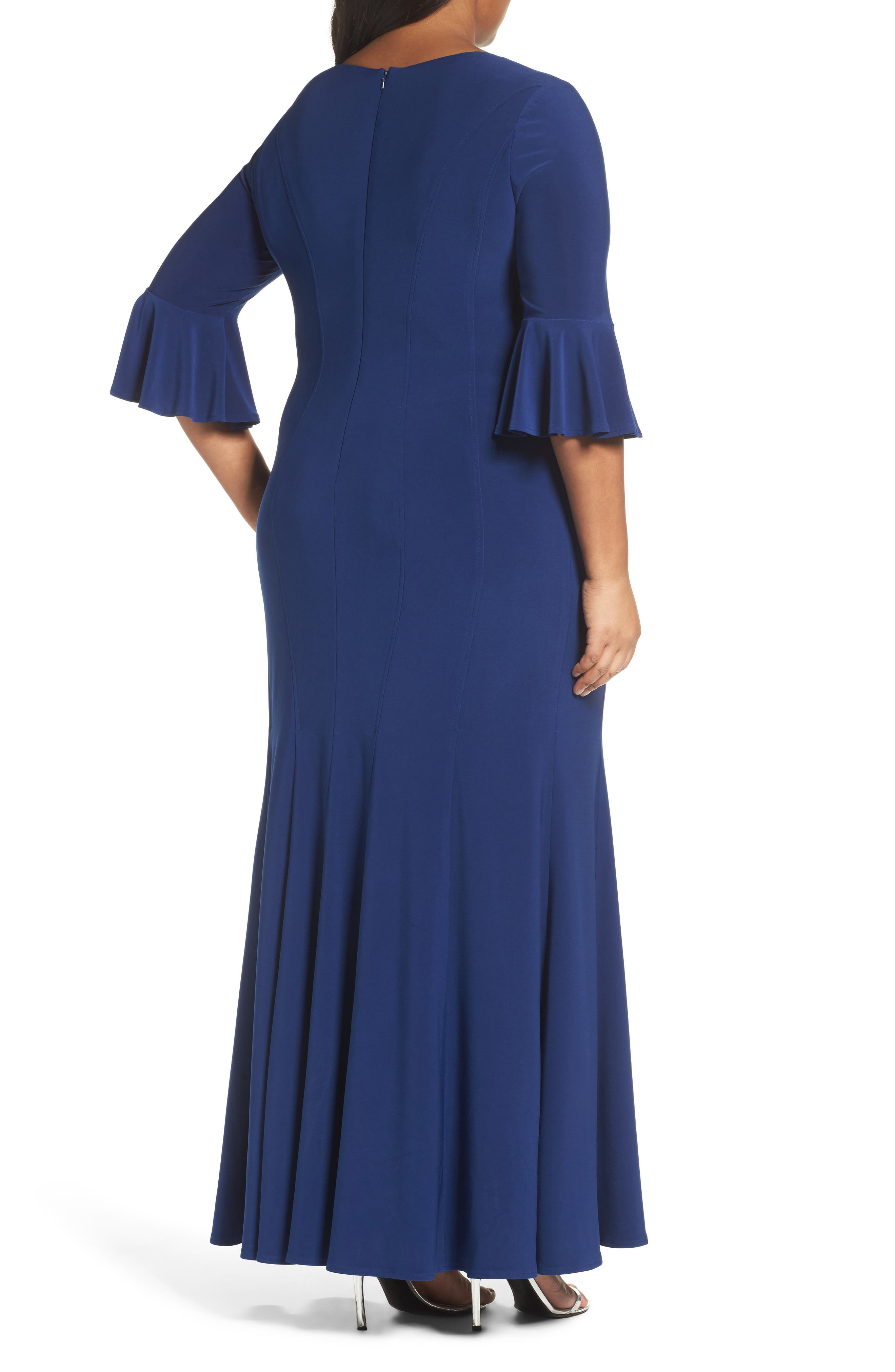Alternate Image 2  - Alex Evenings Fit & Flare Gown (Plus Size)
