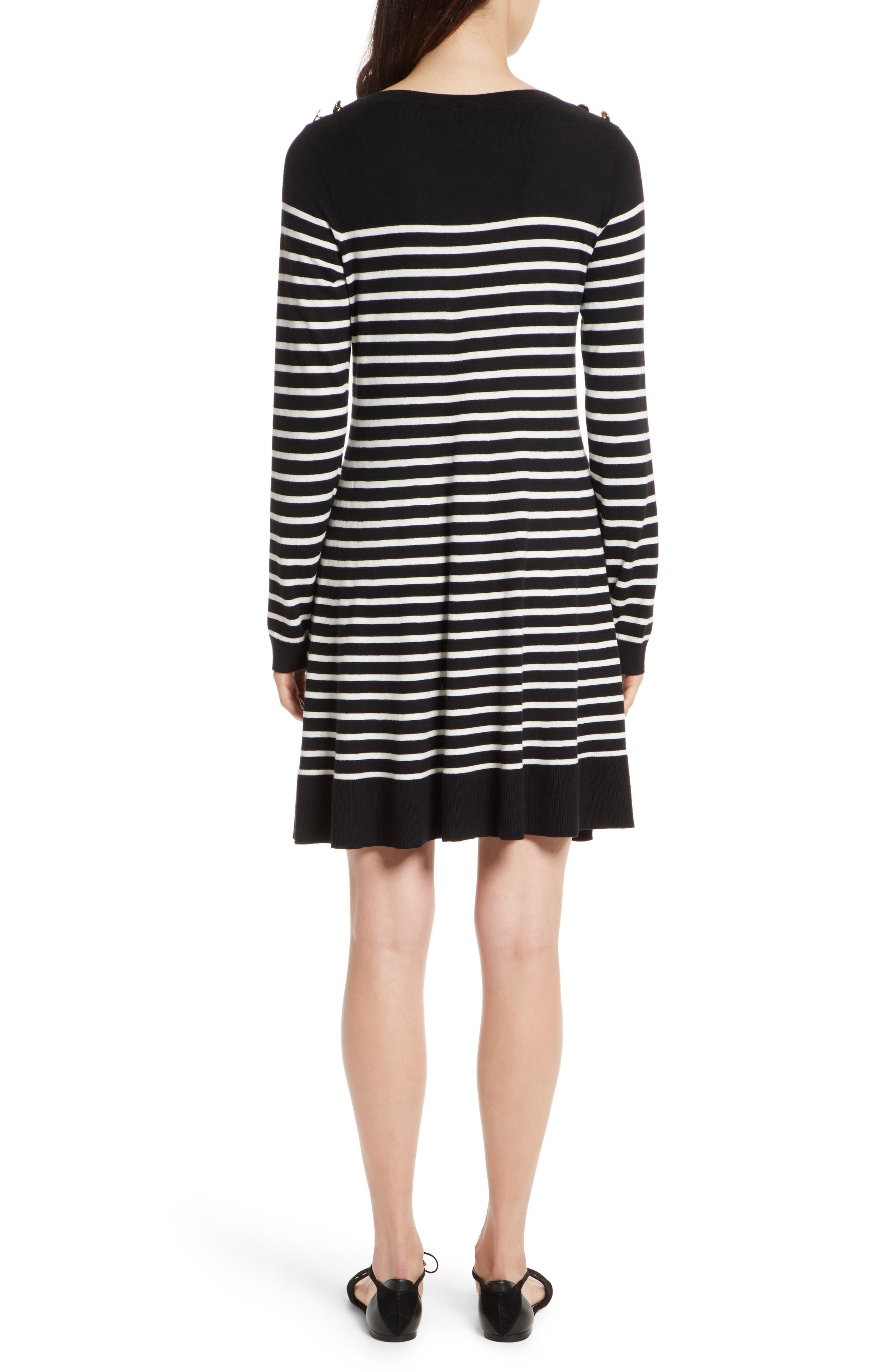 Alternate Image 2  - kate spade new york stripe swing sweater dress
