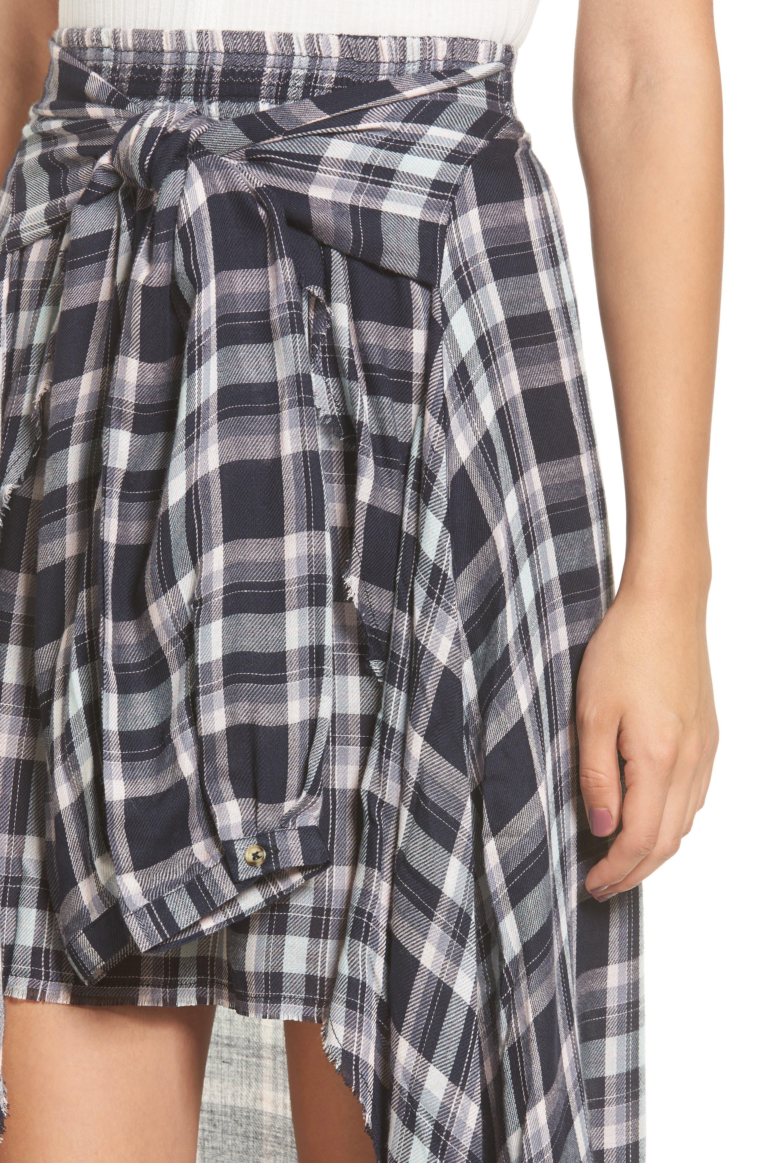 Alternate Image 4  - Somedays Lovin When We Wake Plaid Skirt
