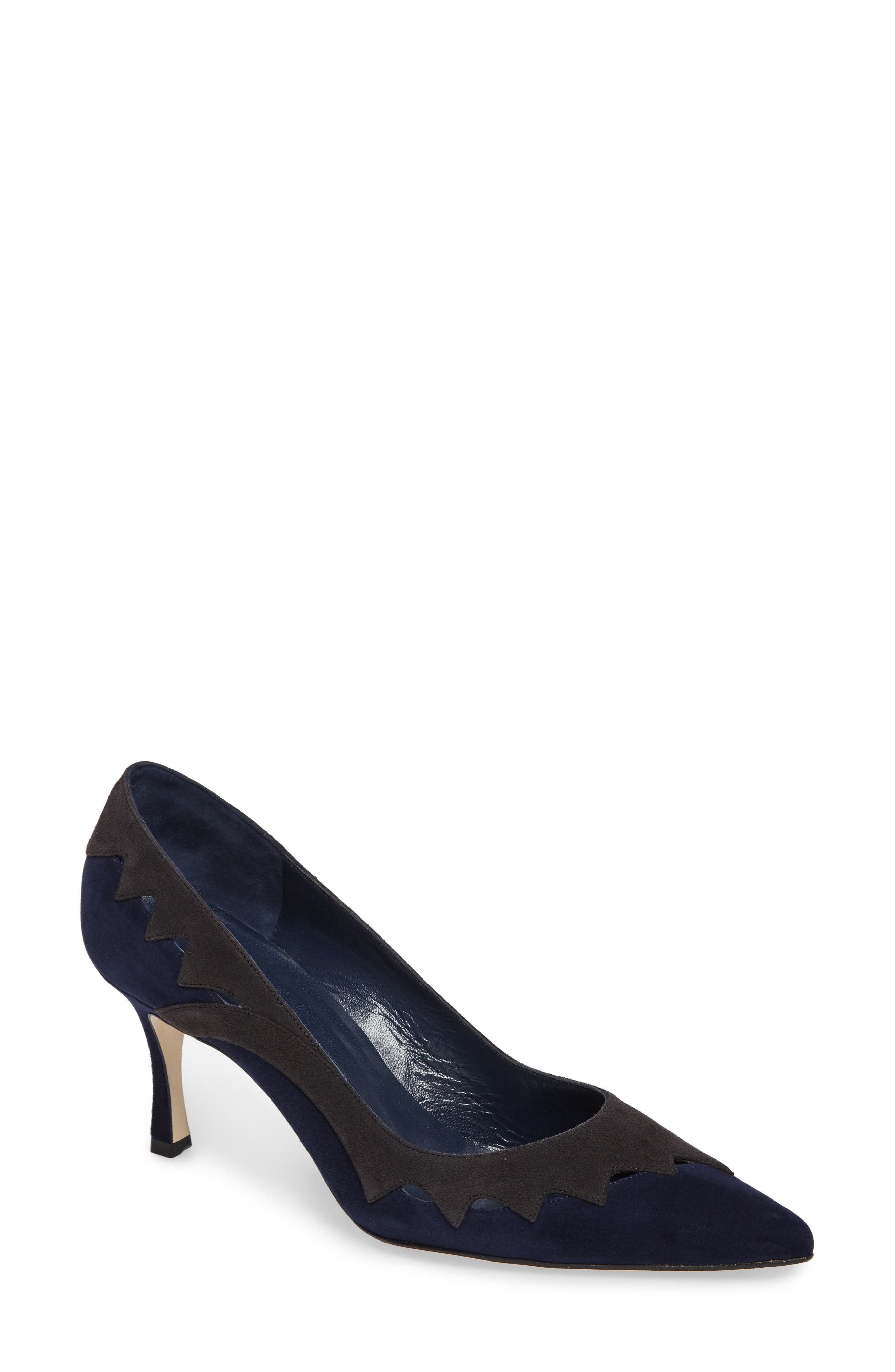 Manolo Blahnik Valero Pointy Toe Pump (Women)