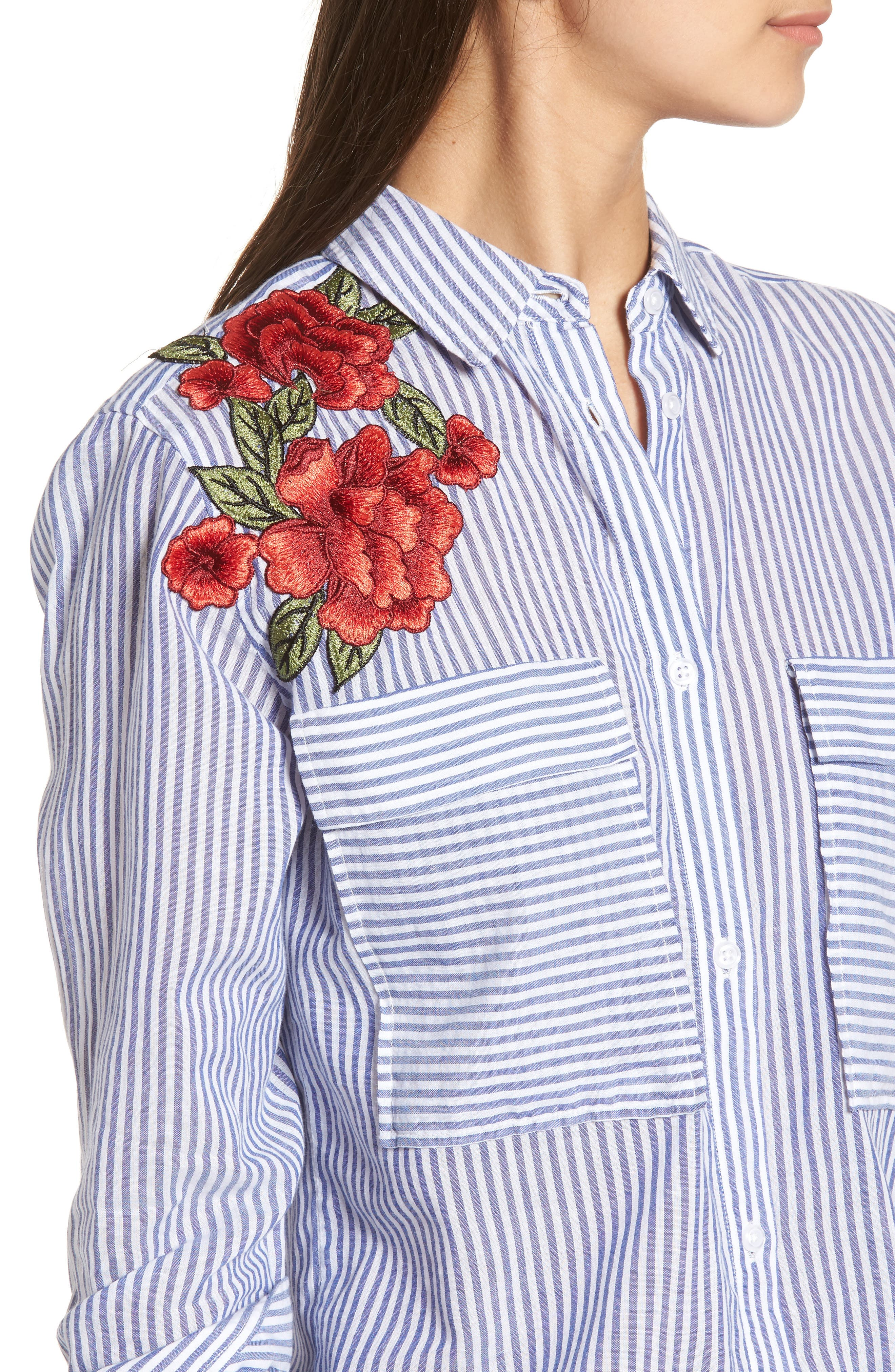 Alternate Image 5  - Rails Frances Embroidered Stripe Shirt