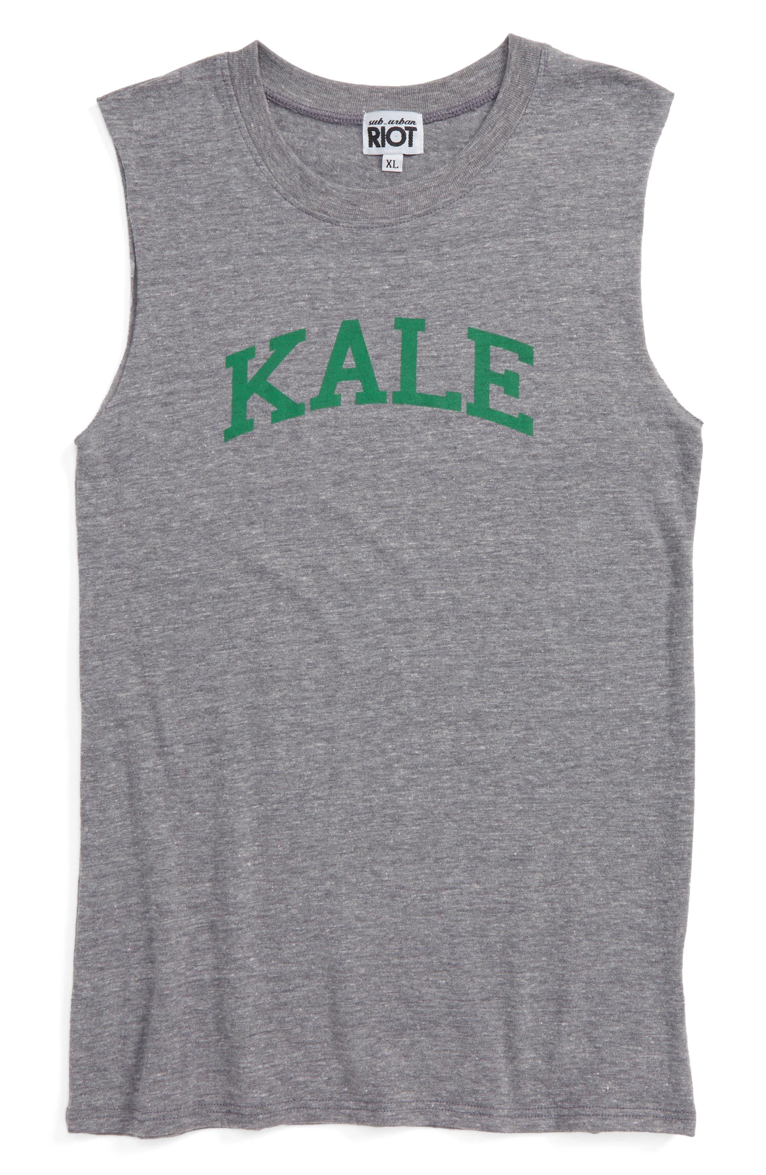 Sub_Urban Riot Kale Muscle Tee (Big Girls)