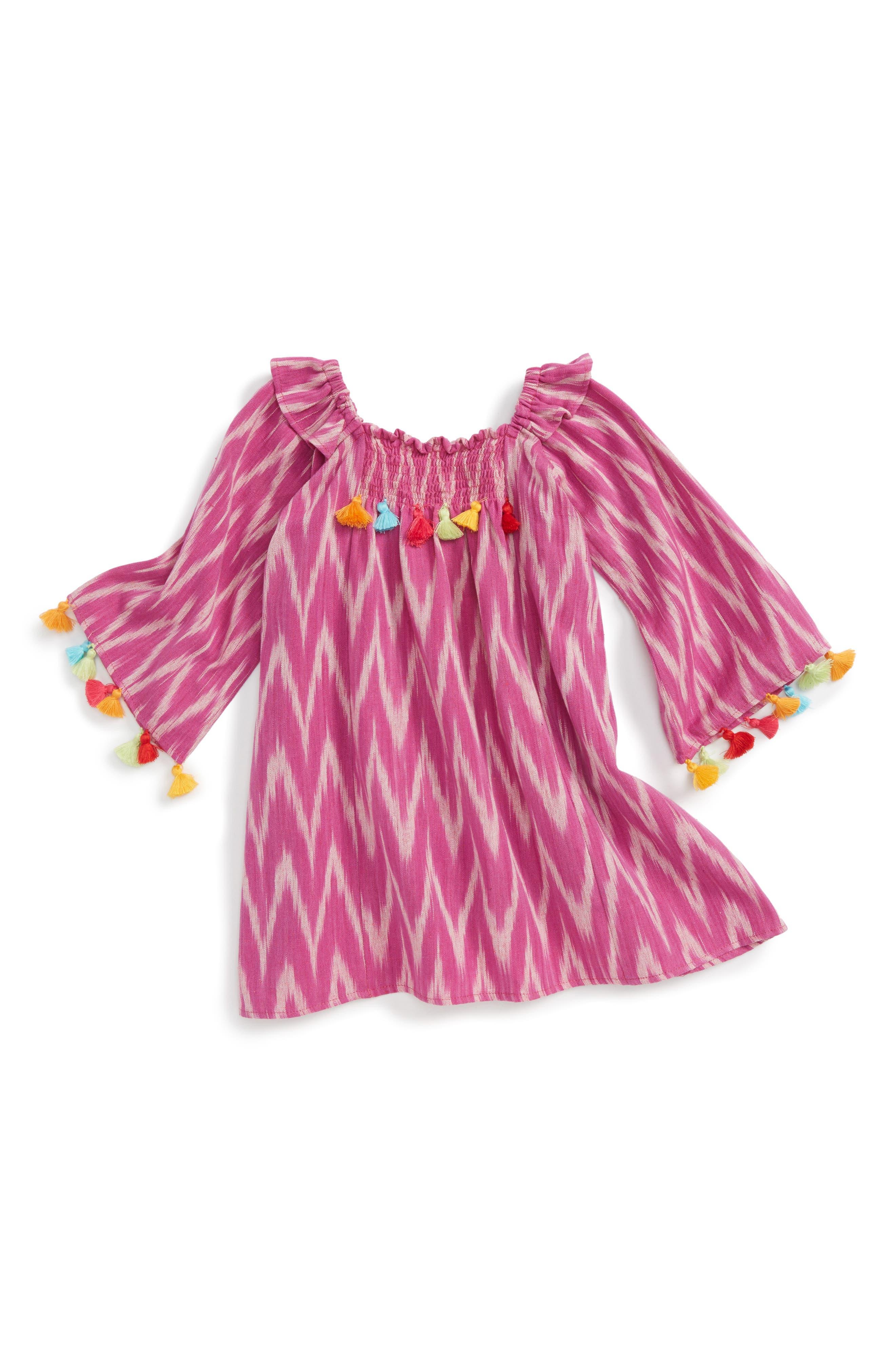 Main Image - Masalababy Ekta Tassel Trim Dress (Baby Girls)