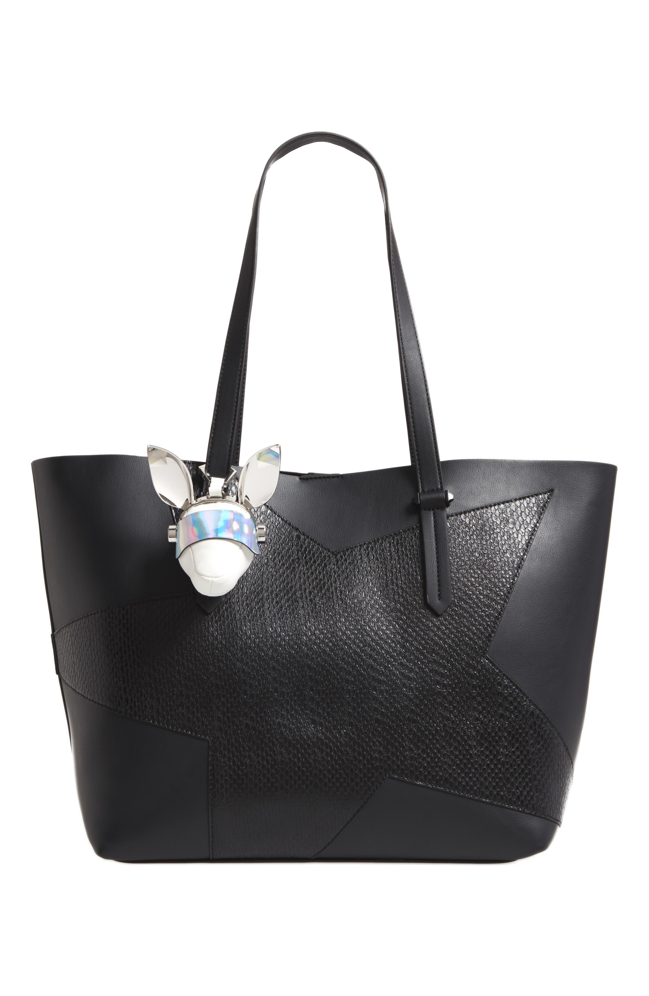Blu Visor Bag Charm,                             Alternate thumbnail 2, color,                             White