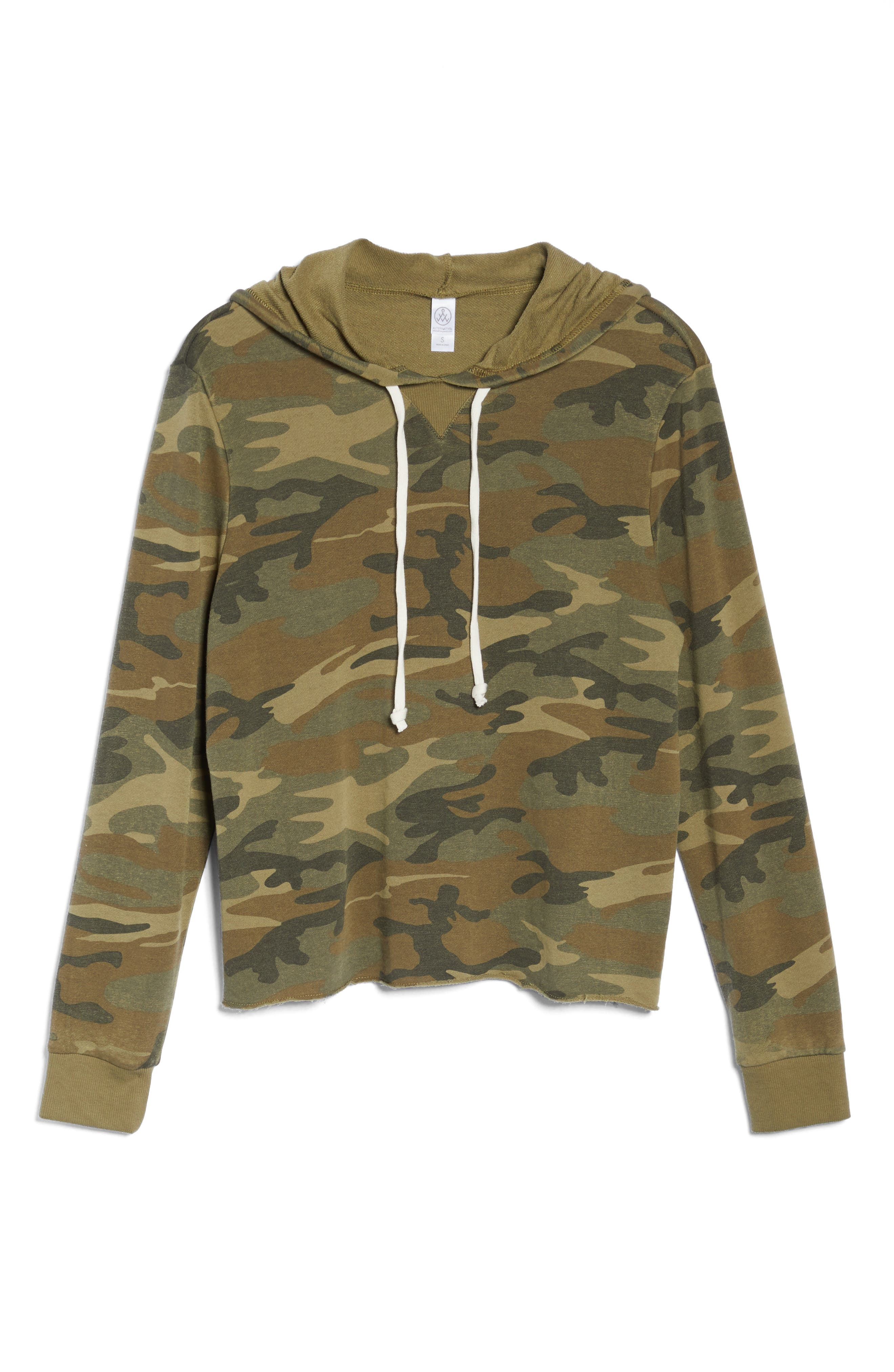 Day Off Hoodie,                             Alternate thumbnail 6, color,                             Camo