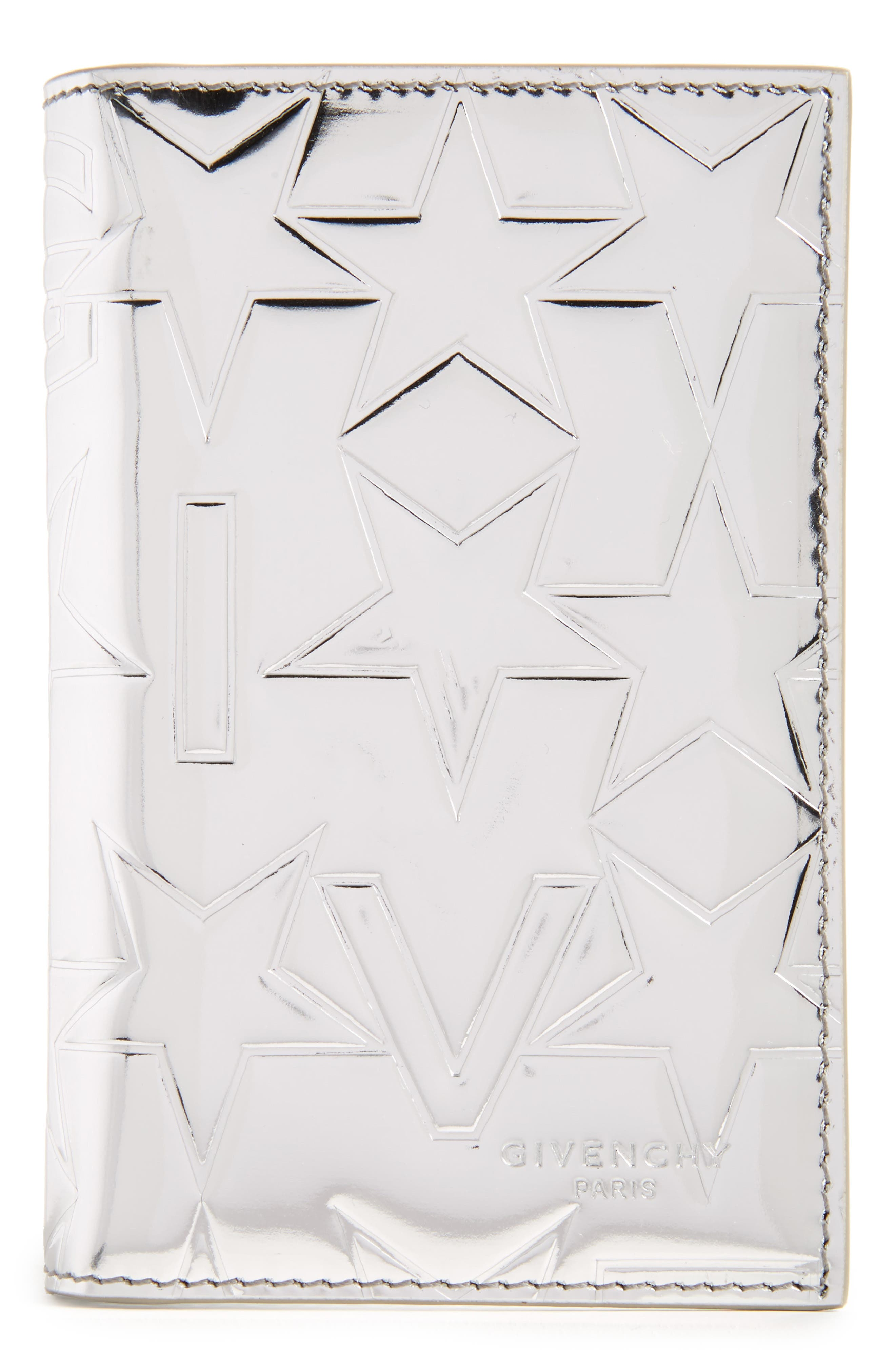 Givenchy Embossed Bifold Leather Card Case