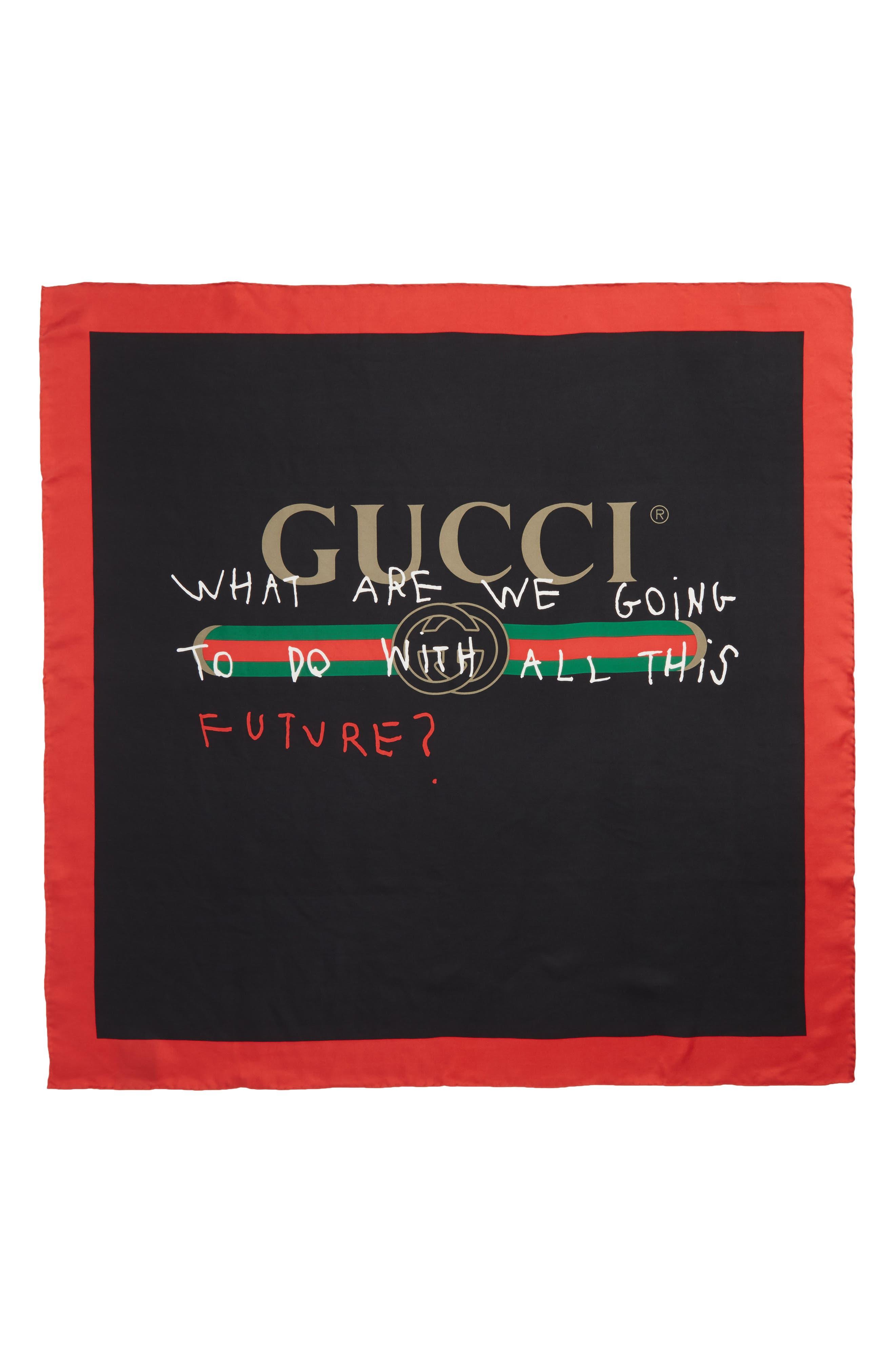 Gucci Coco Capitán Print Silk Scarf
