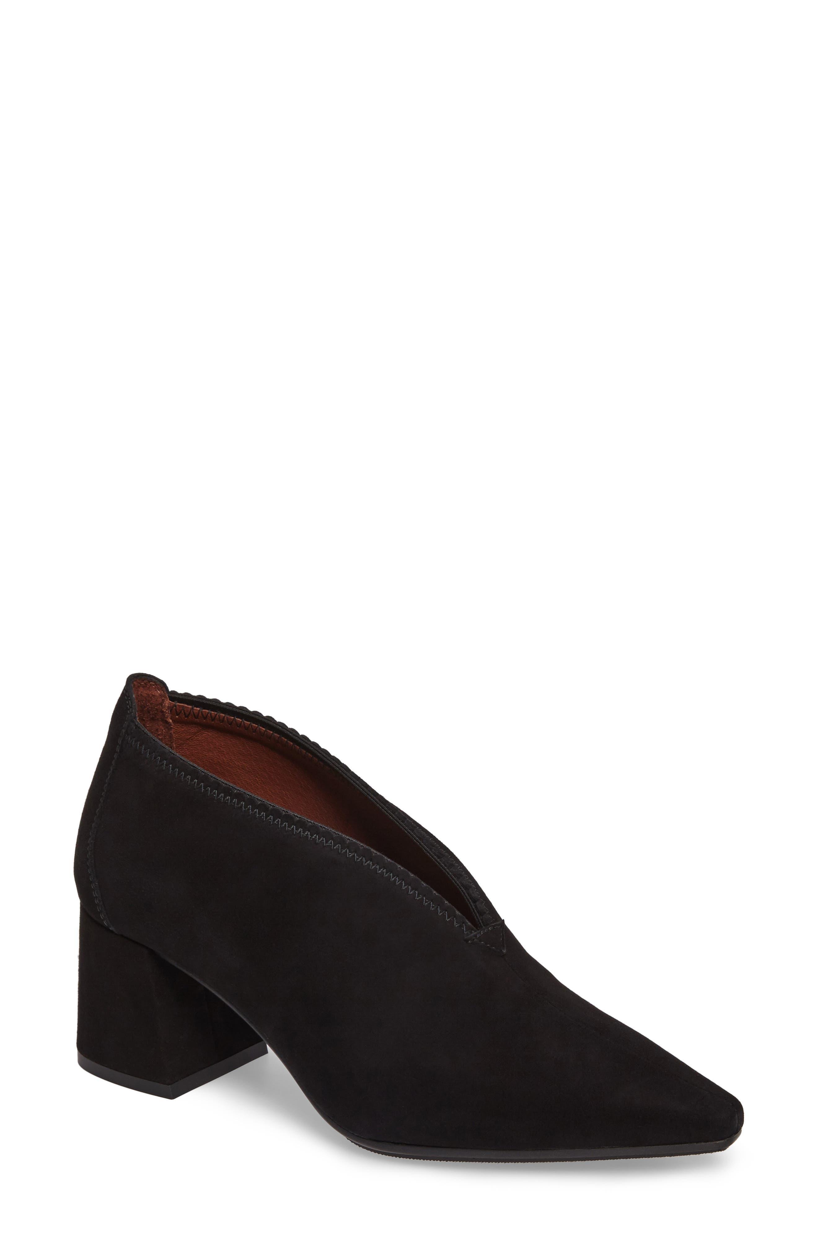 Connie Block Heel Pump,                         Main,                         color, Ante Black Leather