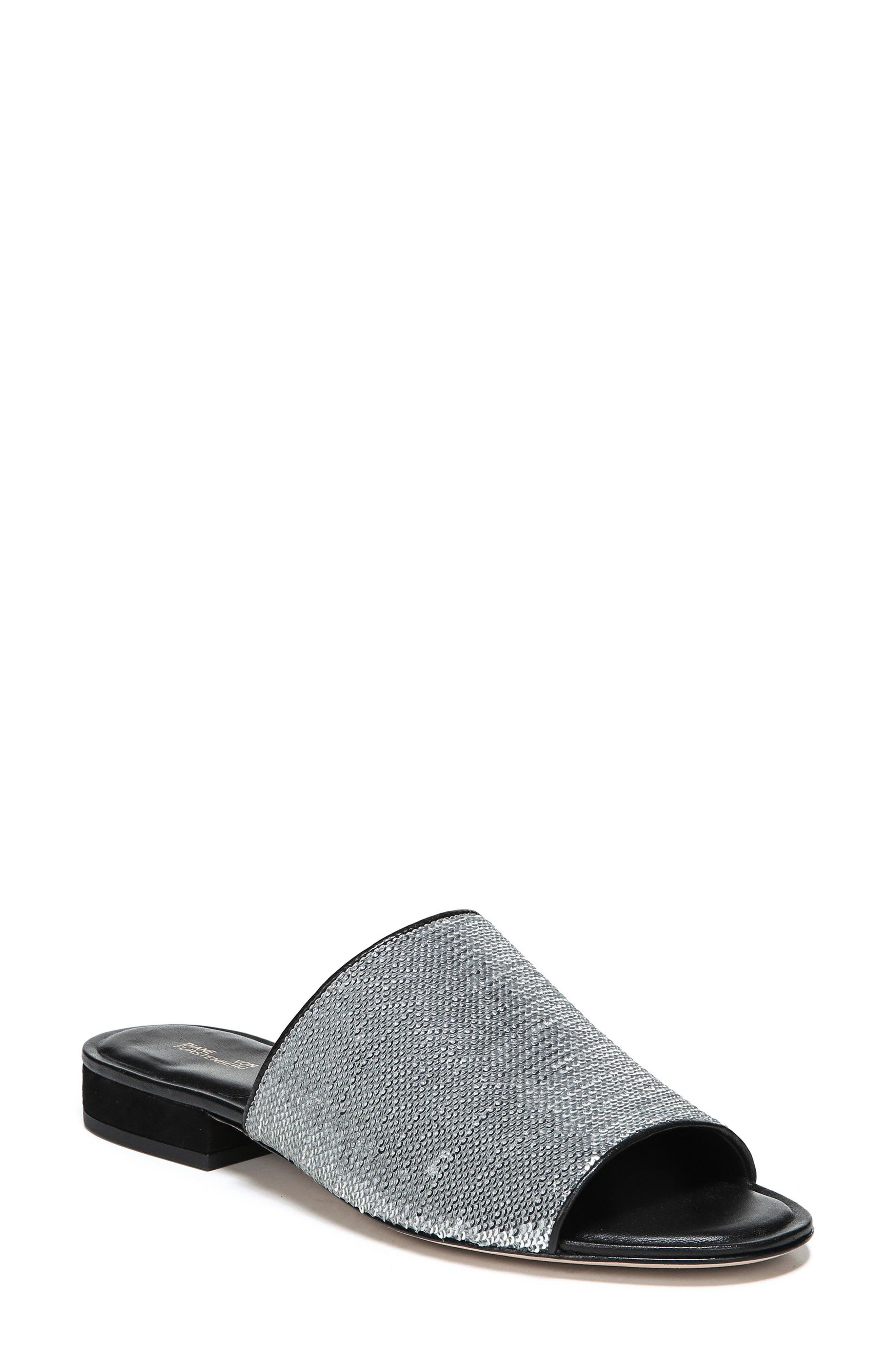 Samassi 1 Slide Sandal,                             Main thumbnail 1, color,                             Silver Sequins