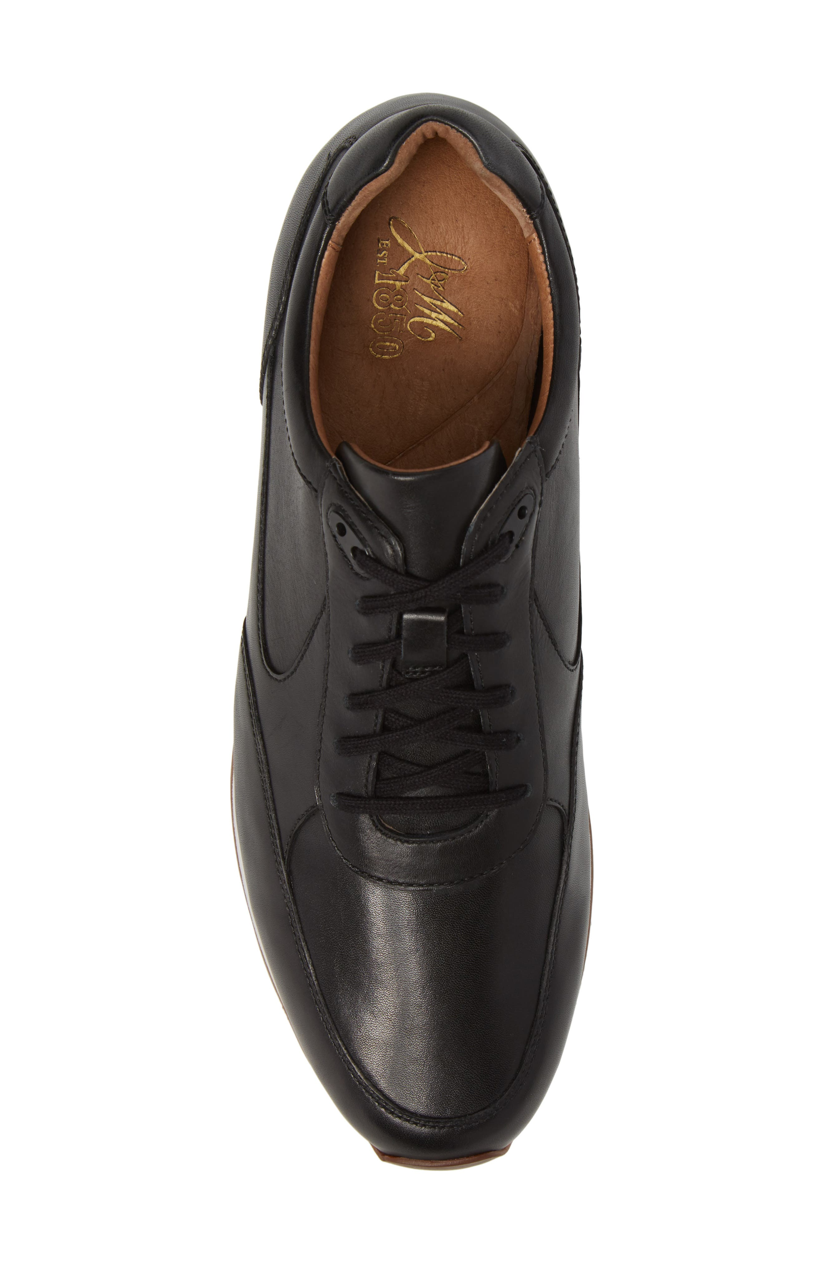 Malek Sneaker,                             Alternate thumbnail 5, color,                             Black Leather