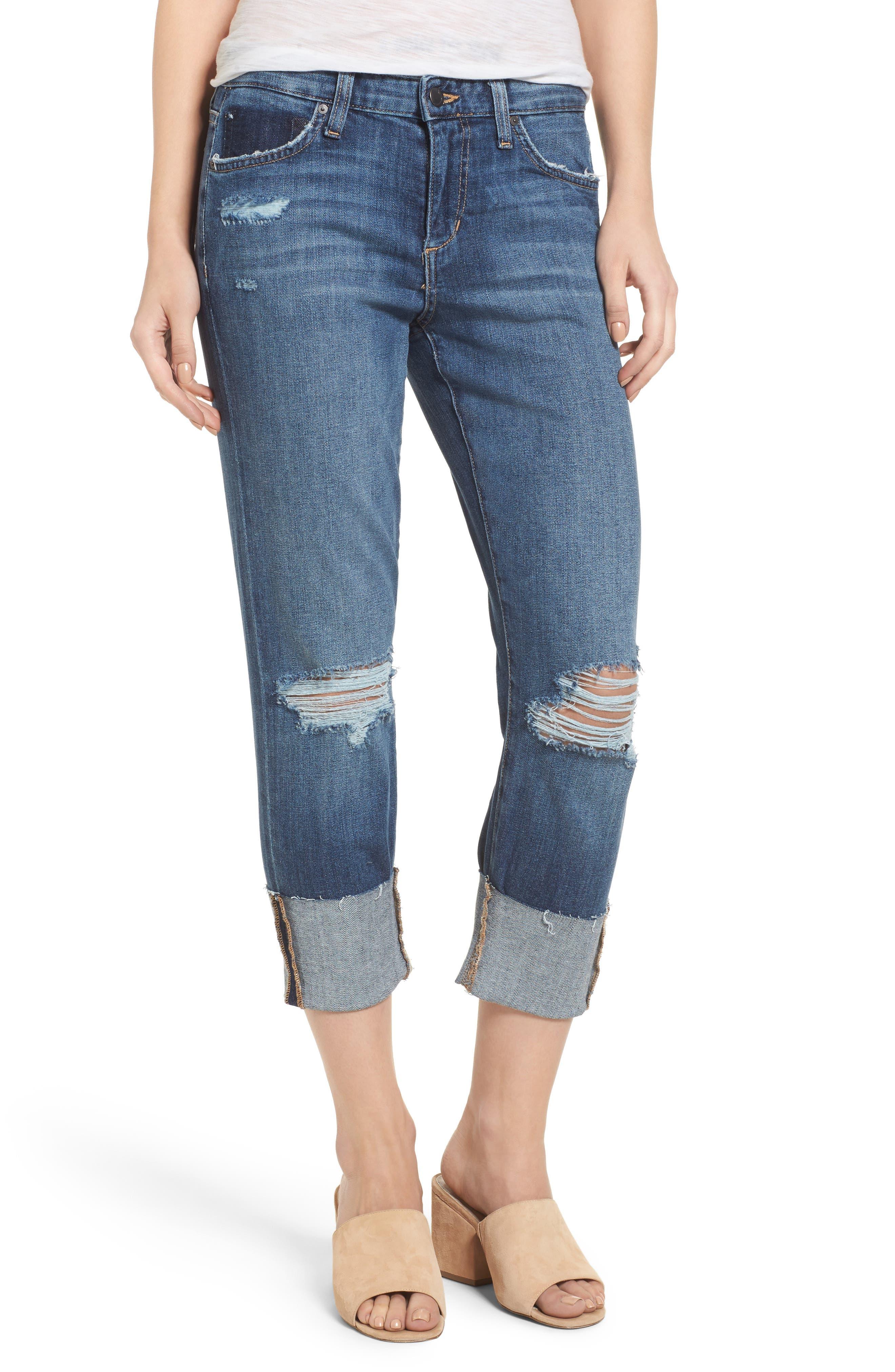 Smith Crop Boyfriend Jeans,                         Main,                         color, Aydin