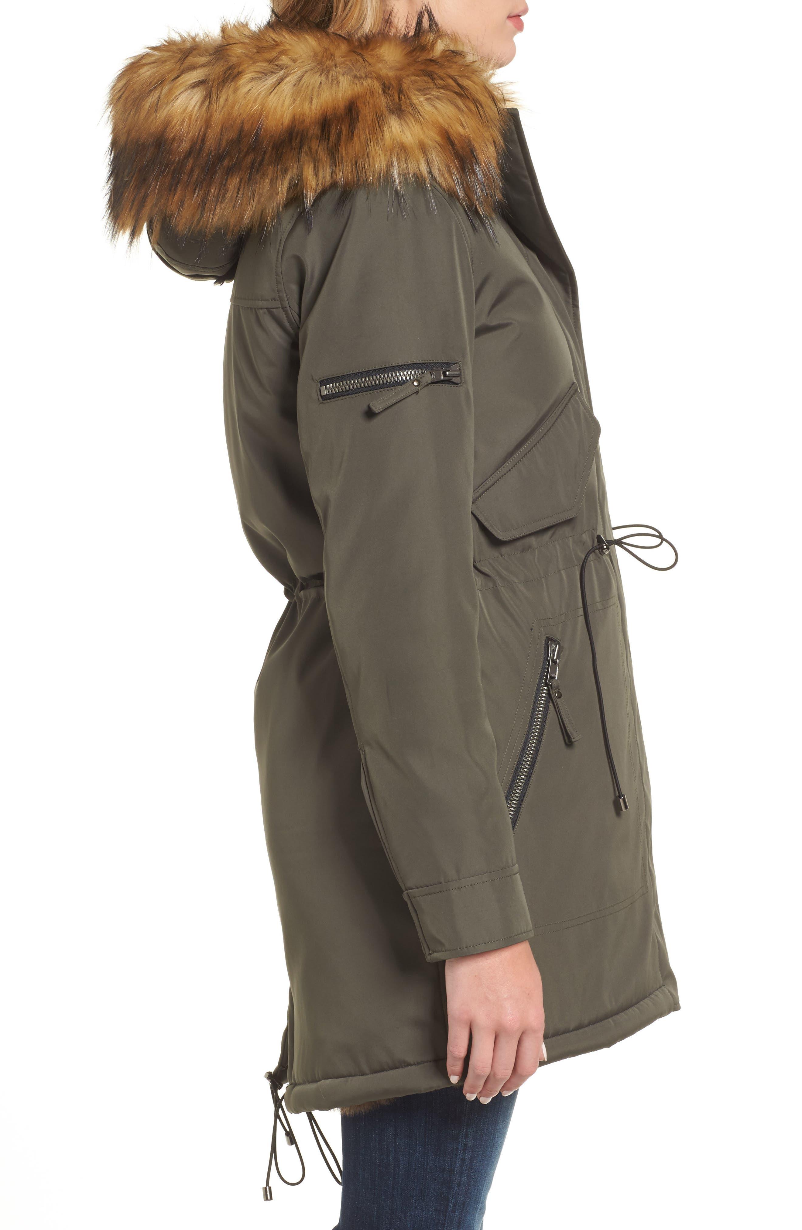Alternate Image 3  - S13 Faux Fur Hooded Anorak