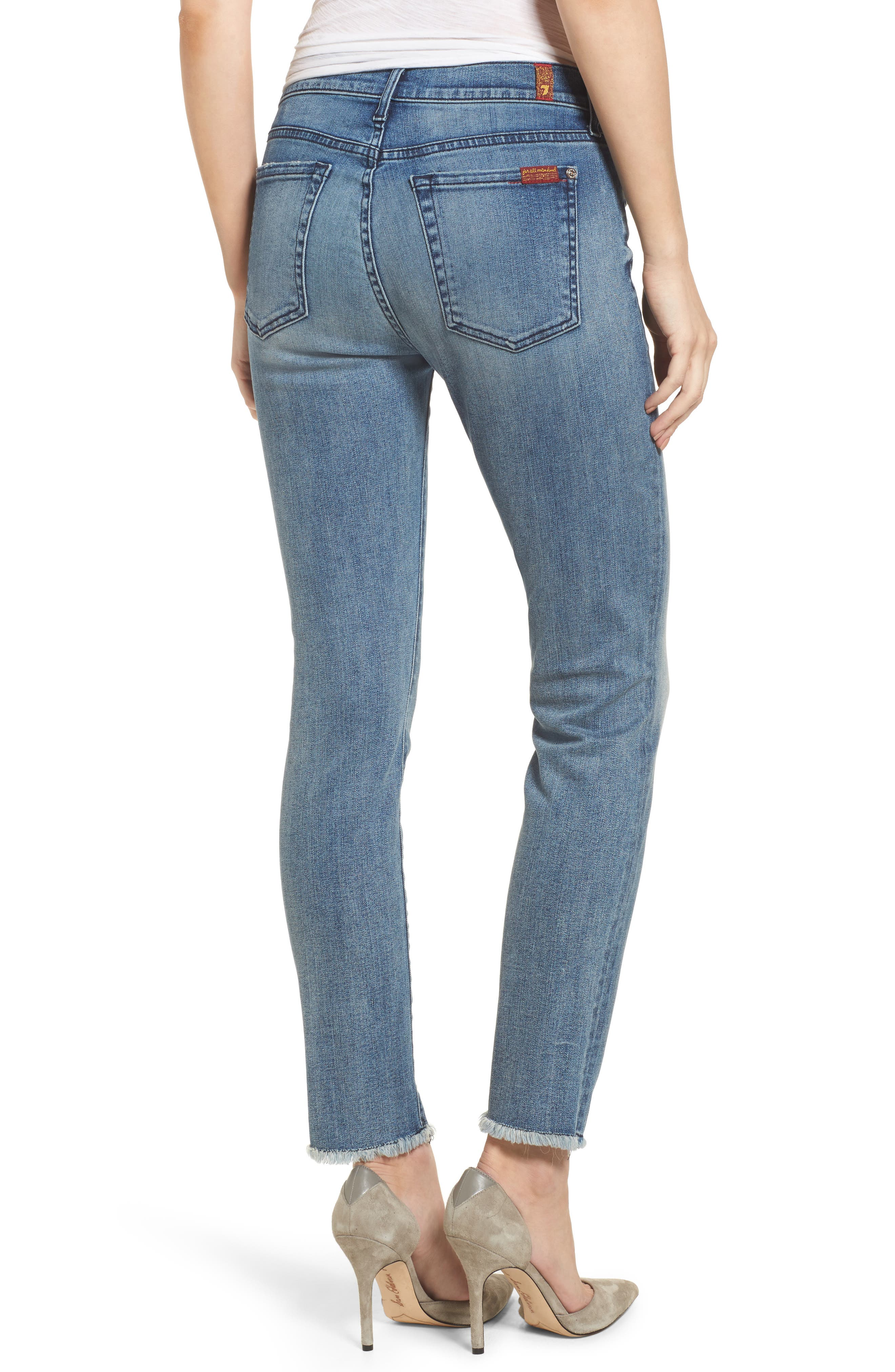Alternate Image 2  - 7 For All Mankind® Roxanne Ankle Straight Leg Jeans (Wall Street Heritage)