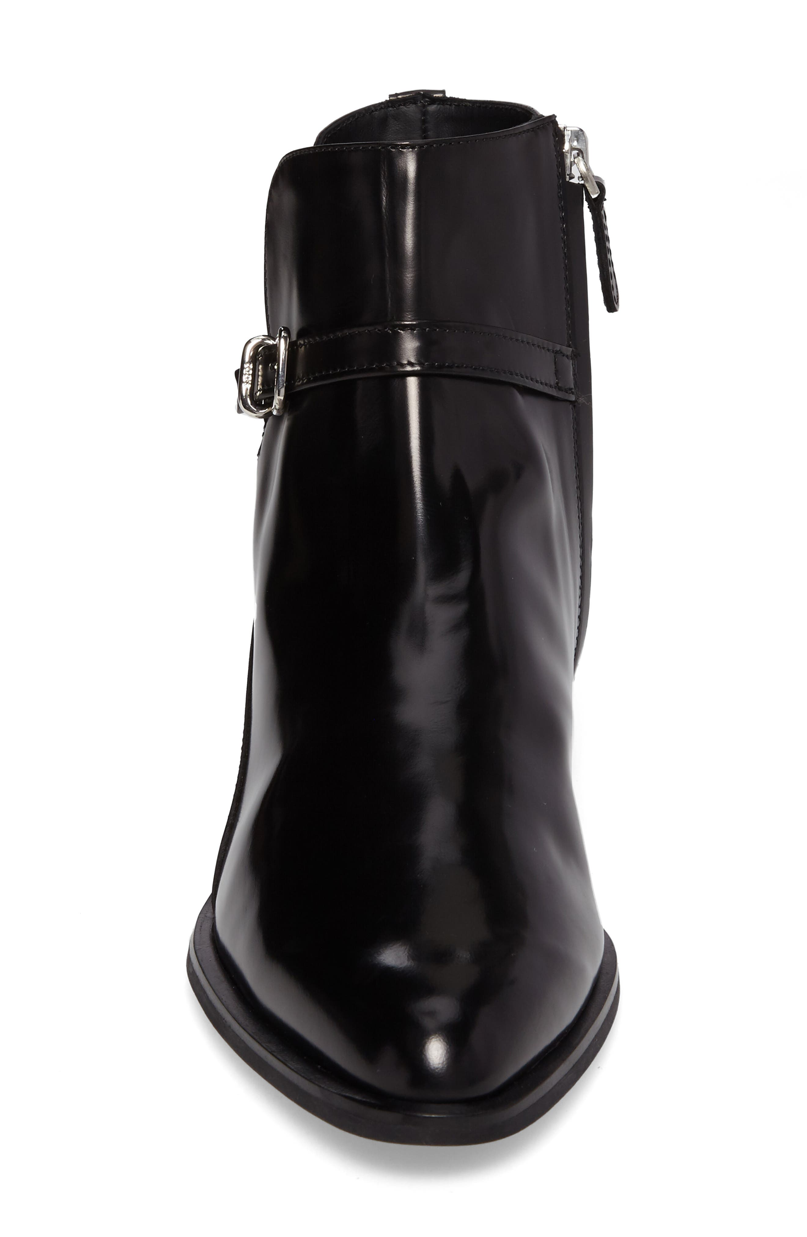 Pointy Toe Bootie,                             Alternate thumbnail 4, color,                             Black
