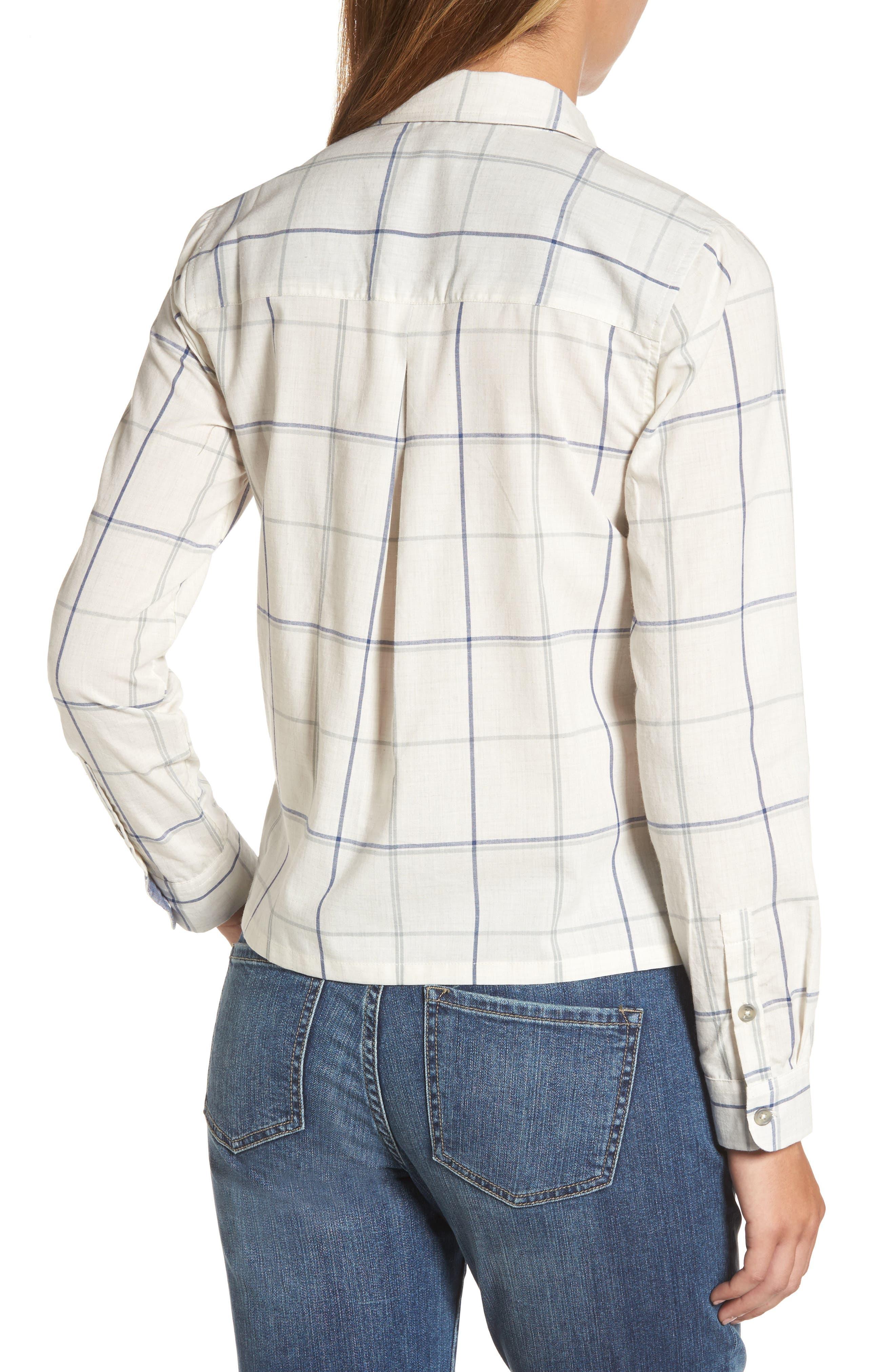 Plaid Shirt,                             Alternate thumbnail 2, color,                             Natural Multi
