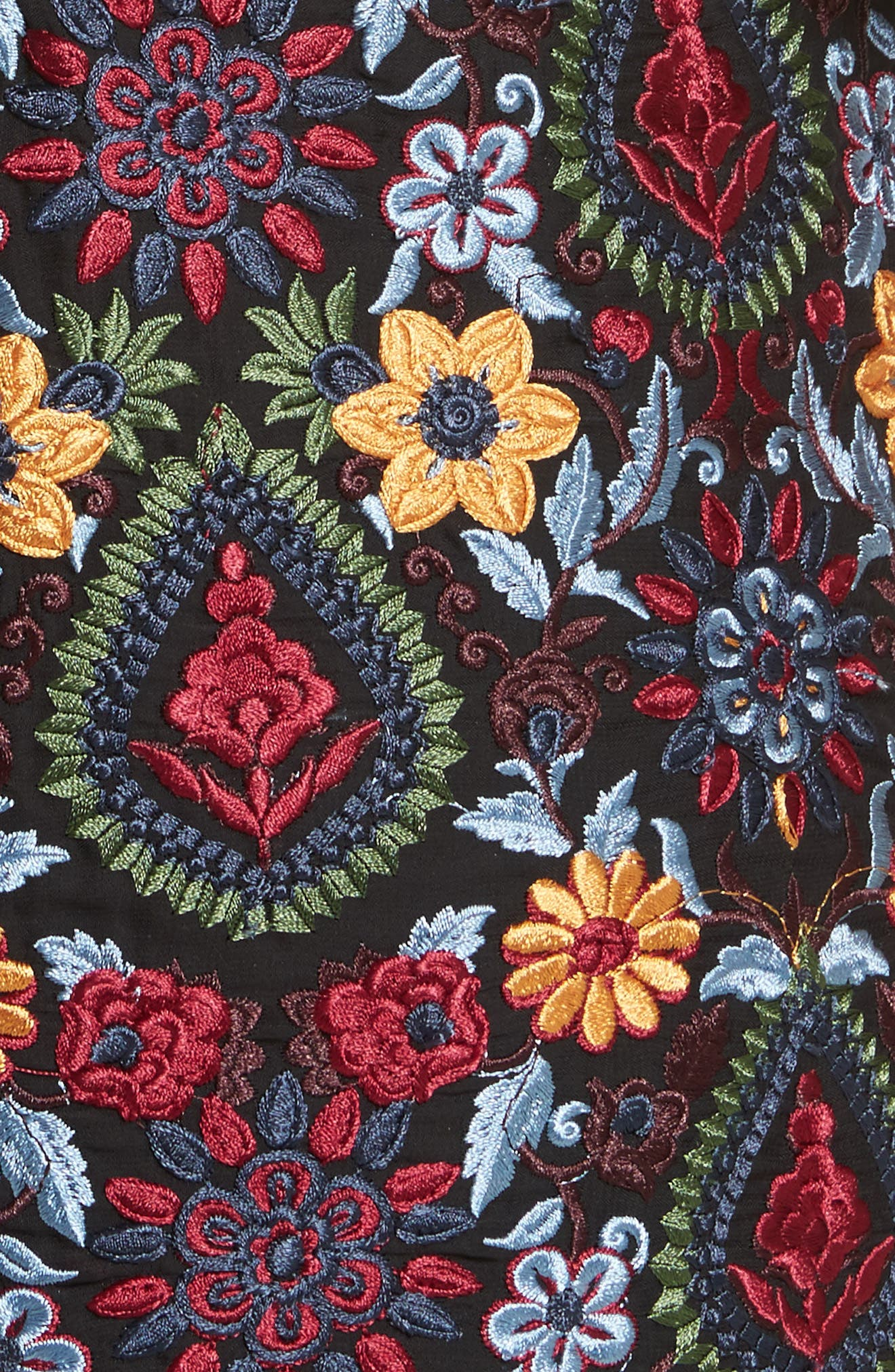 Alternate Image 5  - Alice + Olivia Coley Embroidered Bell Sleeve Dress