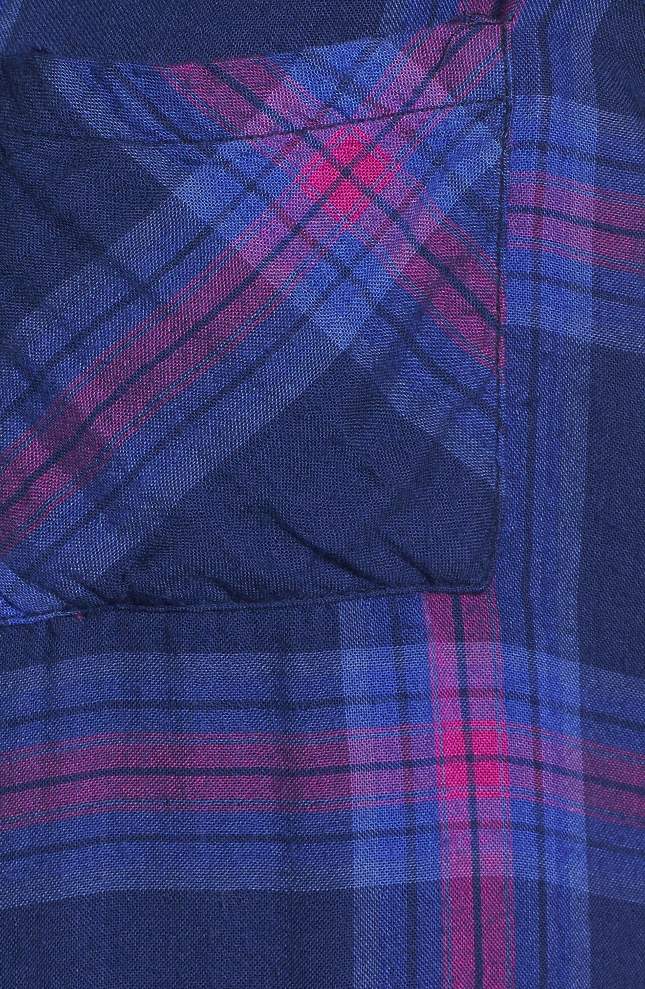 Taitum Plaid Shirt,                             Alternate thumbnail 6, color,                             Navy/ Ultra Violet