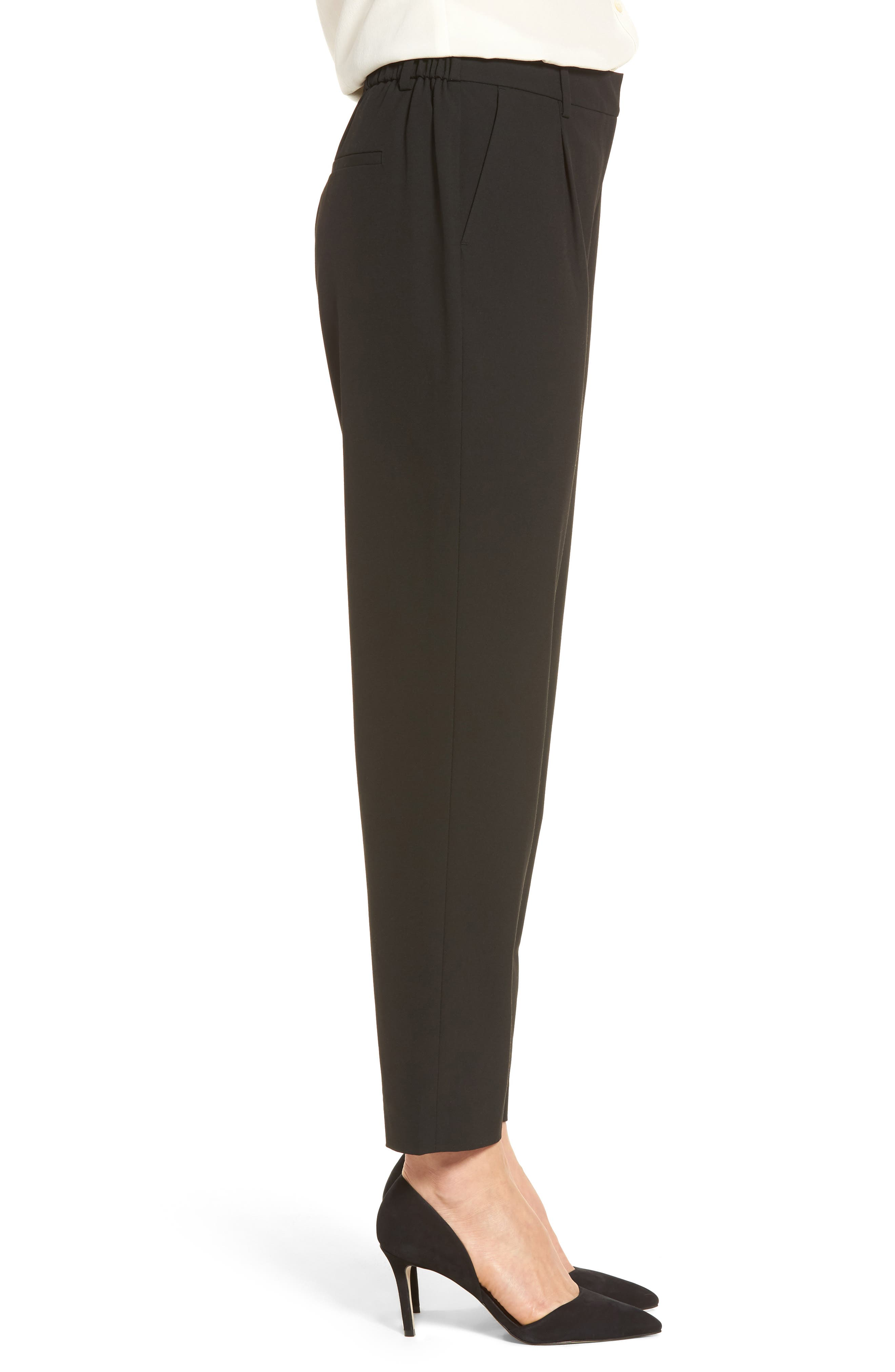 Relaxed Ankle Pants,                             Alternate thumbnail 3, color,                             Black