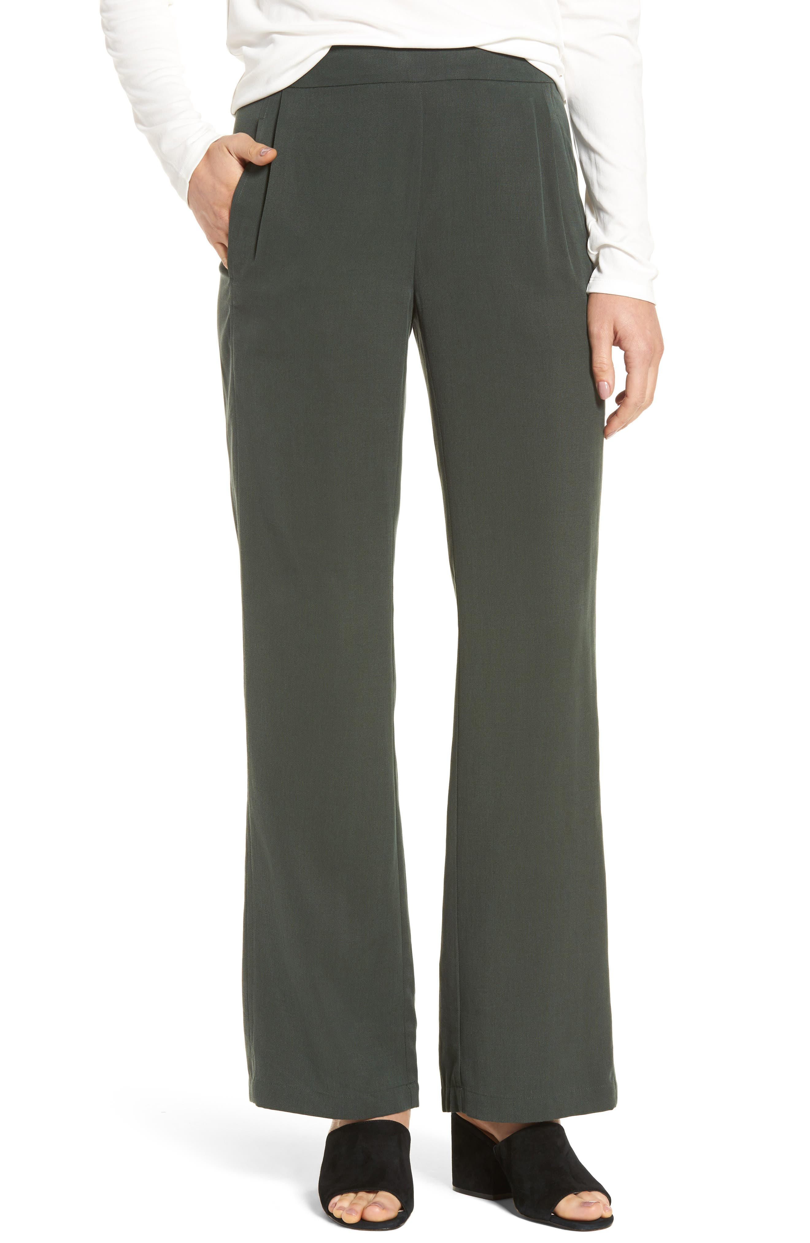 Eileen Fisher Woven Tencel® Straight Leg Pants