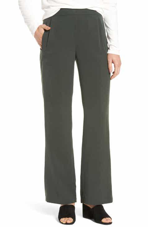 Eileen Fisher Woven Tencel® Straight Leg Pants by EILEEN FISHER