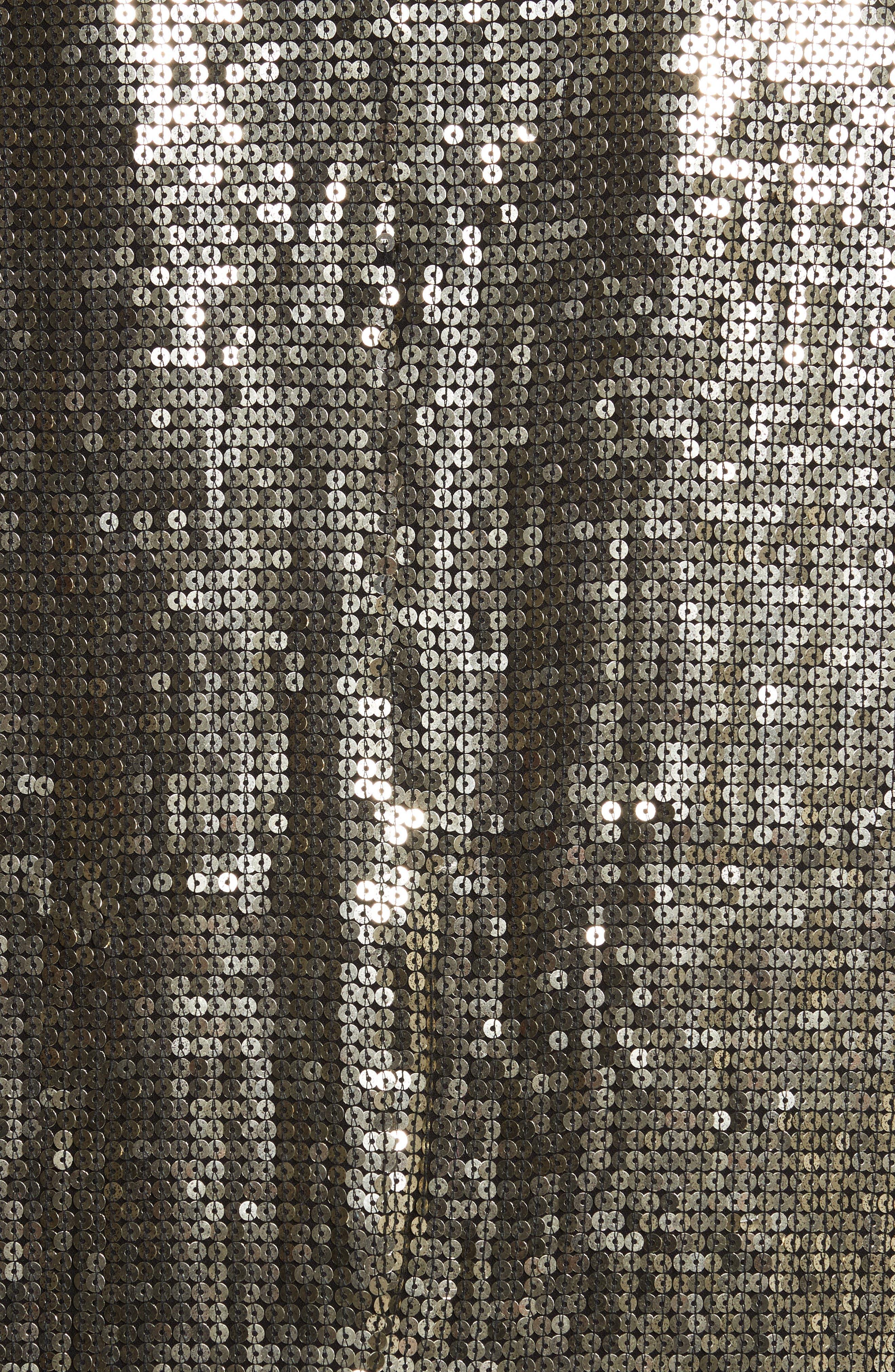 Jace Sequin Embellished Blazer,                             Alternate thumbnail 5, color,                             Gunmetal