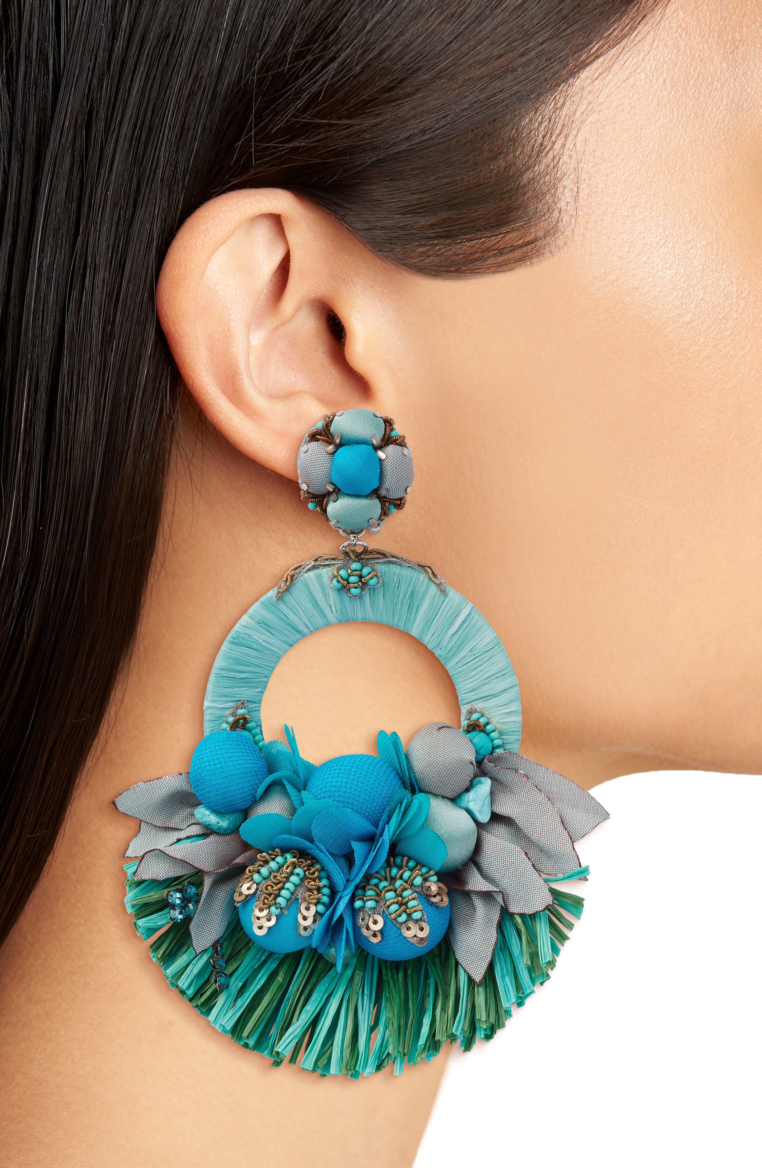 Waverly Drop Earrings,                             Alternate thumbnail 2, color,                             Blue / Green