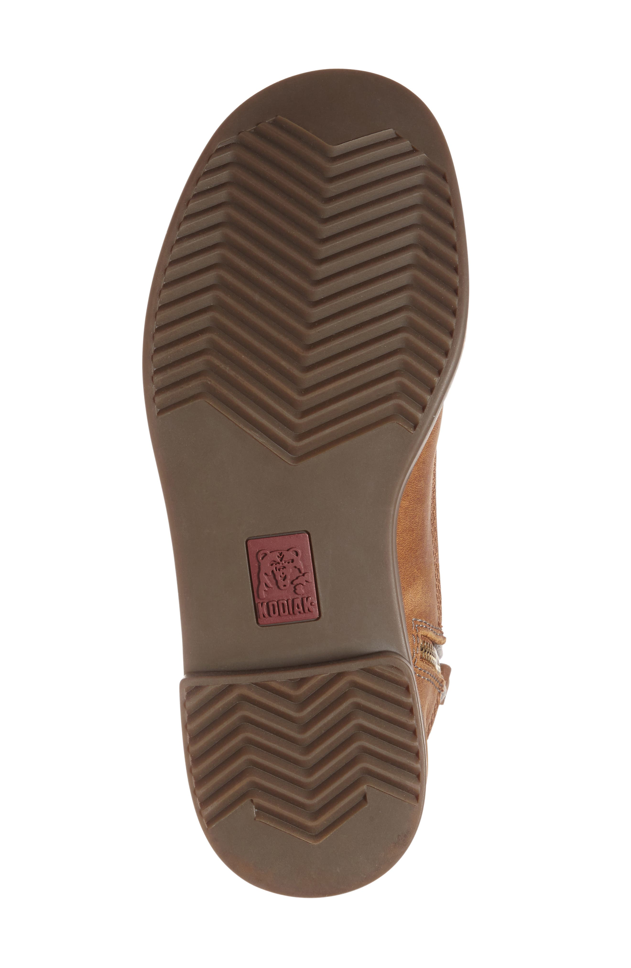 'Addison' Waterproof Insulated Zip Boot,                             Alternate thumbnail 4, color,                             Caramel/ Grey Leather