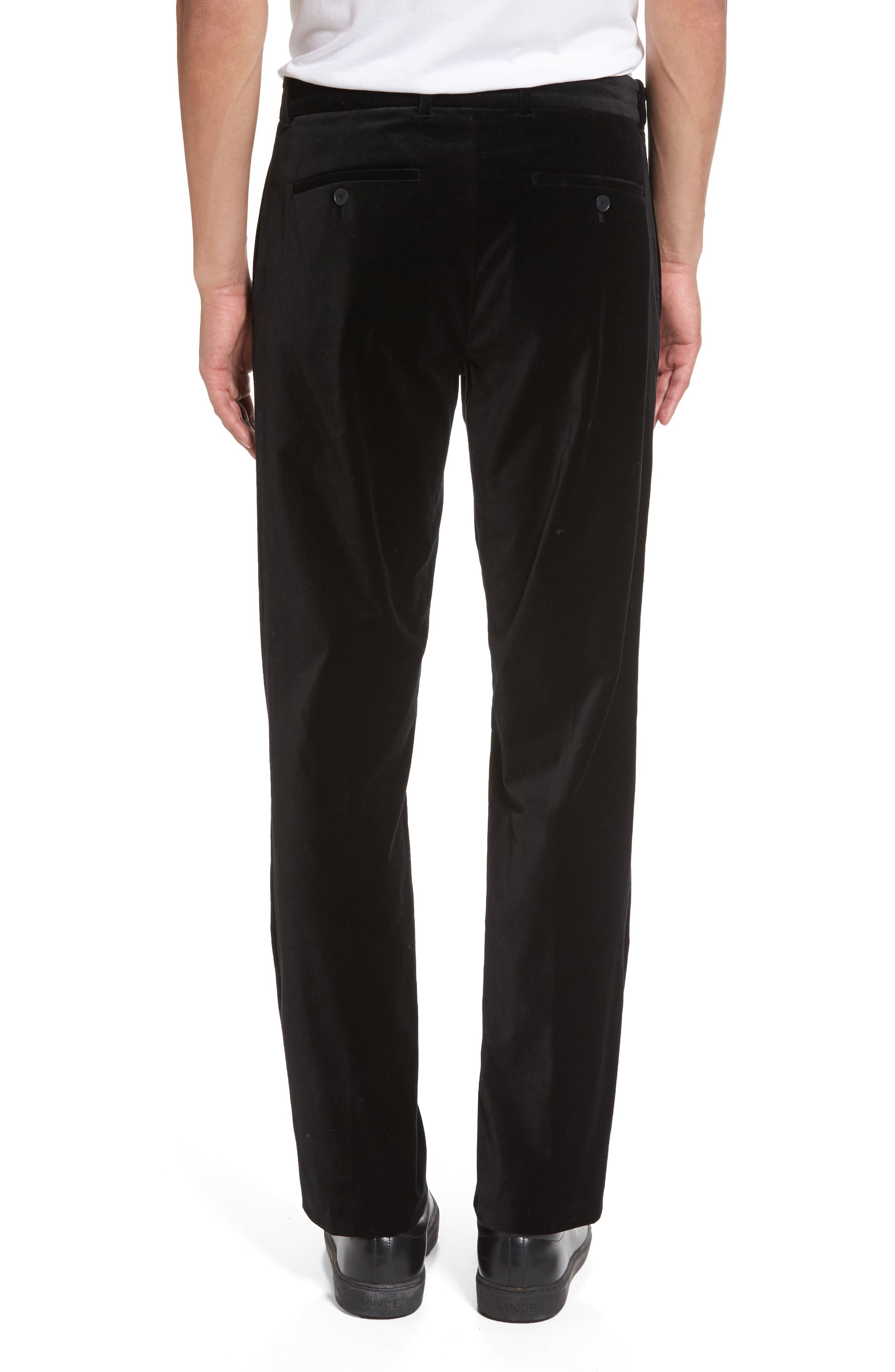 Velvet Trousers,                             Alternate thumbnail 2, color,                             Black