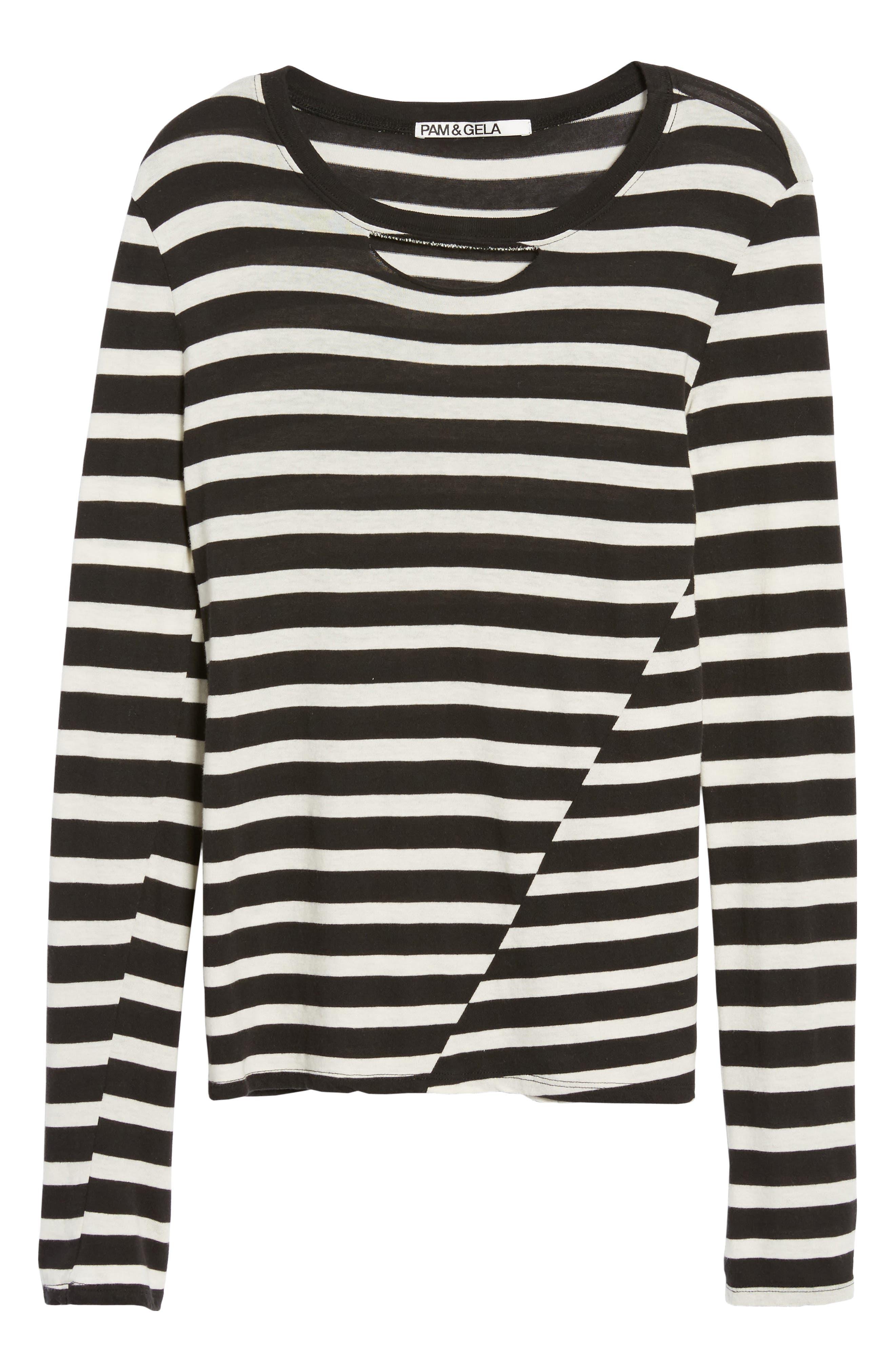 Alternate Image 7  - Pam & Gela Stripe Long Sleeve Top
