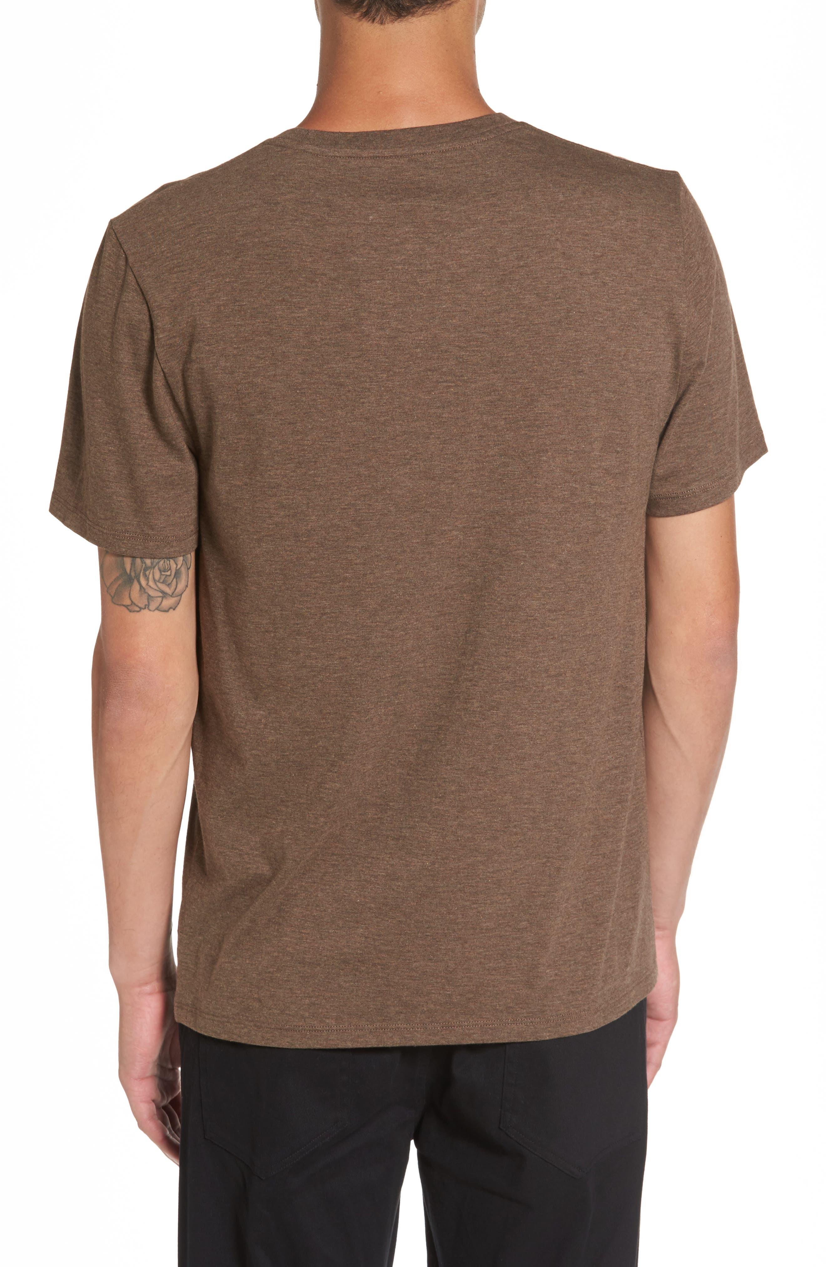 Regular Fit Crewneck T-Shirt,                             Alternate thumbnail 2, color,                             Bark