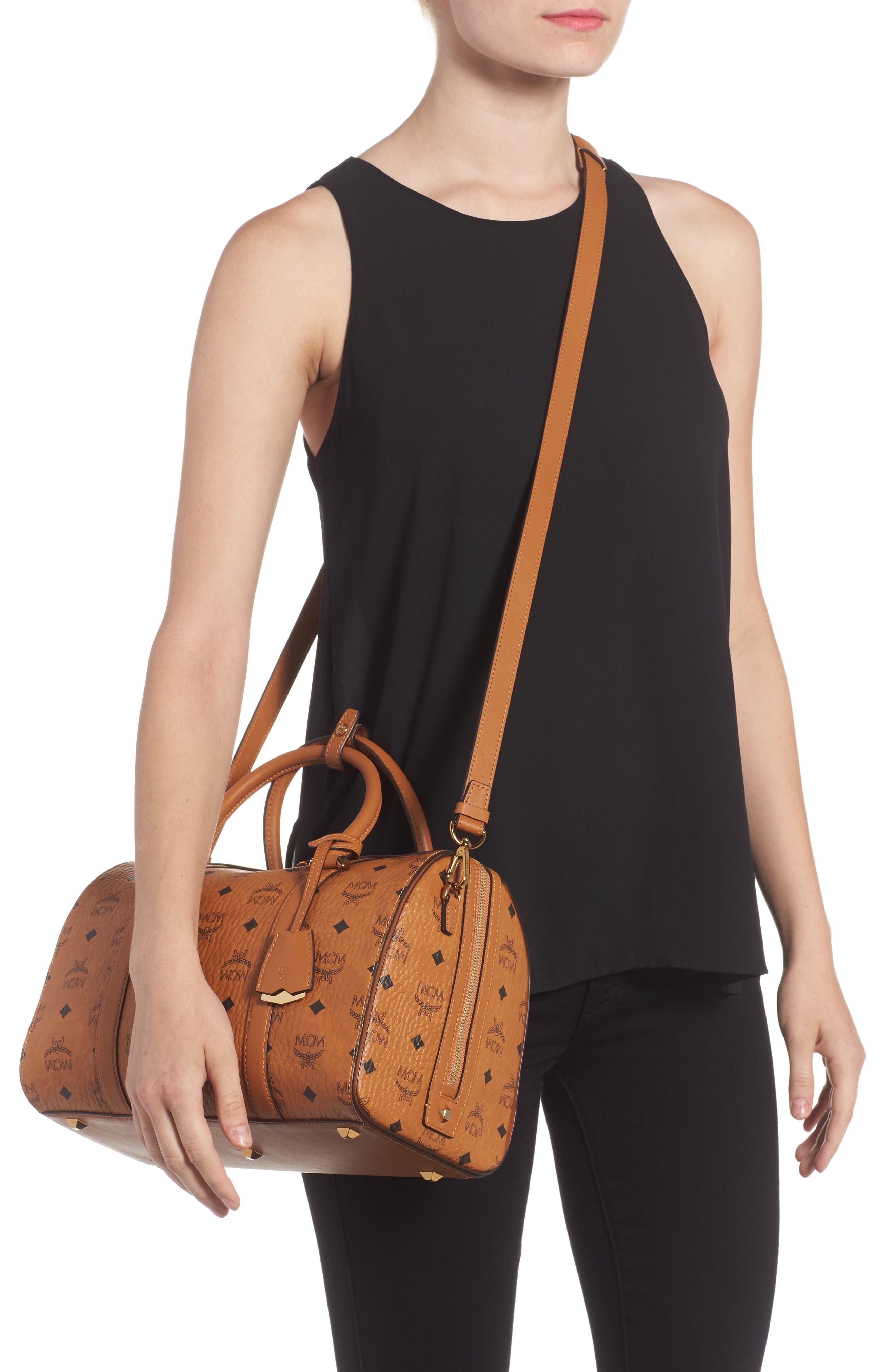 Essential Boston Bag,                             Alternate thumbnail 2, color,                             Cognac