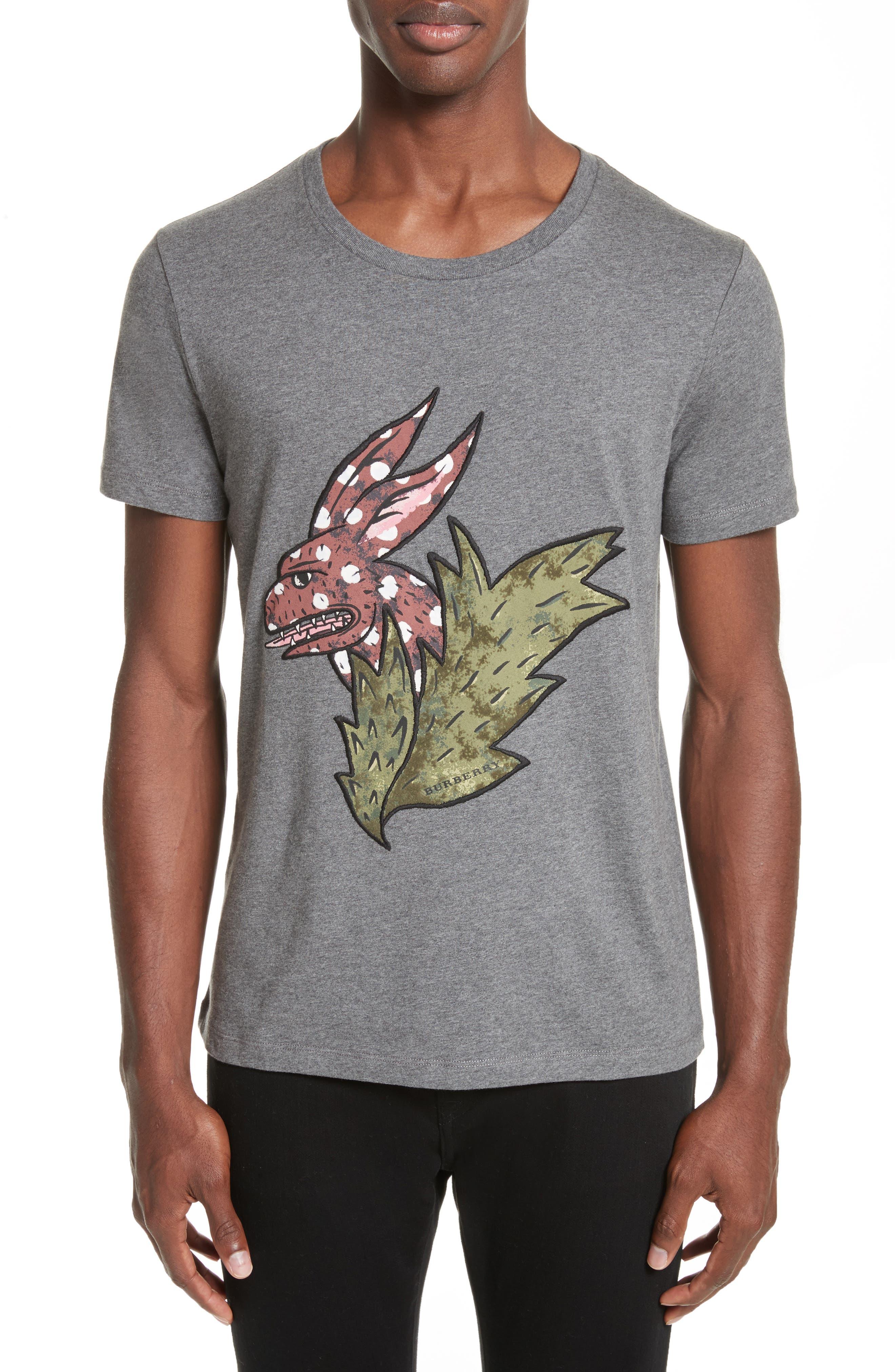 Burberry Oscar Beasts Crewneck T-Shirt