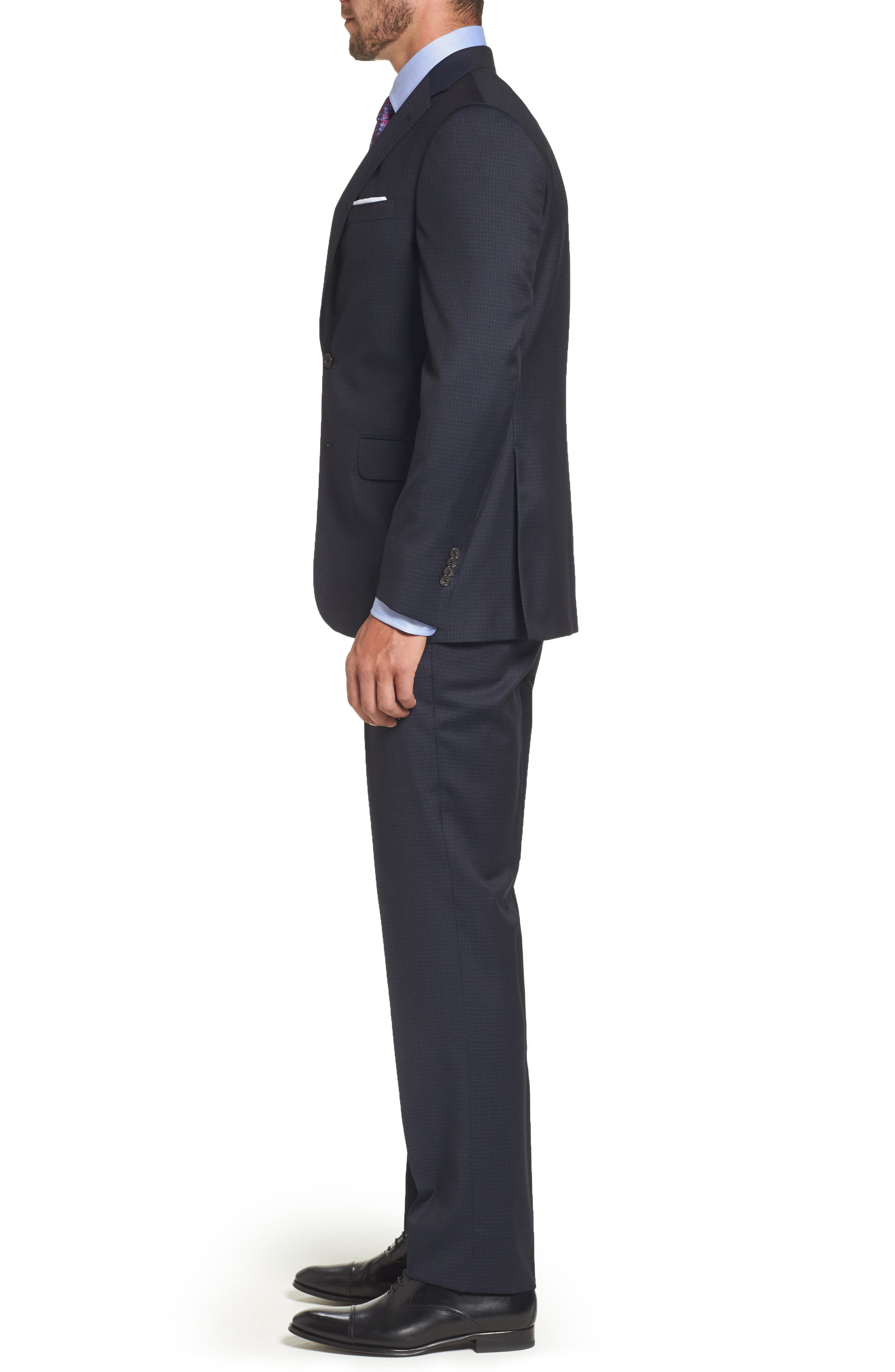 Alternate Image 3  - David Donahue Ryan Classic Fit Check Wool Suit