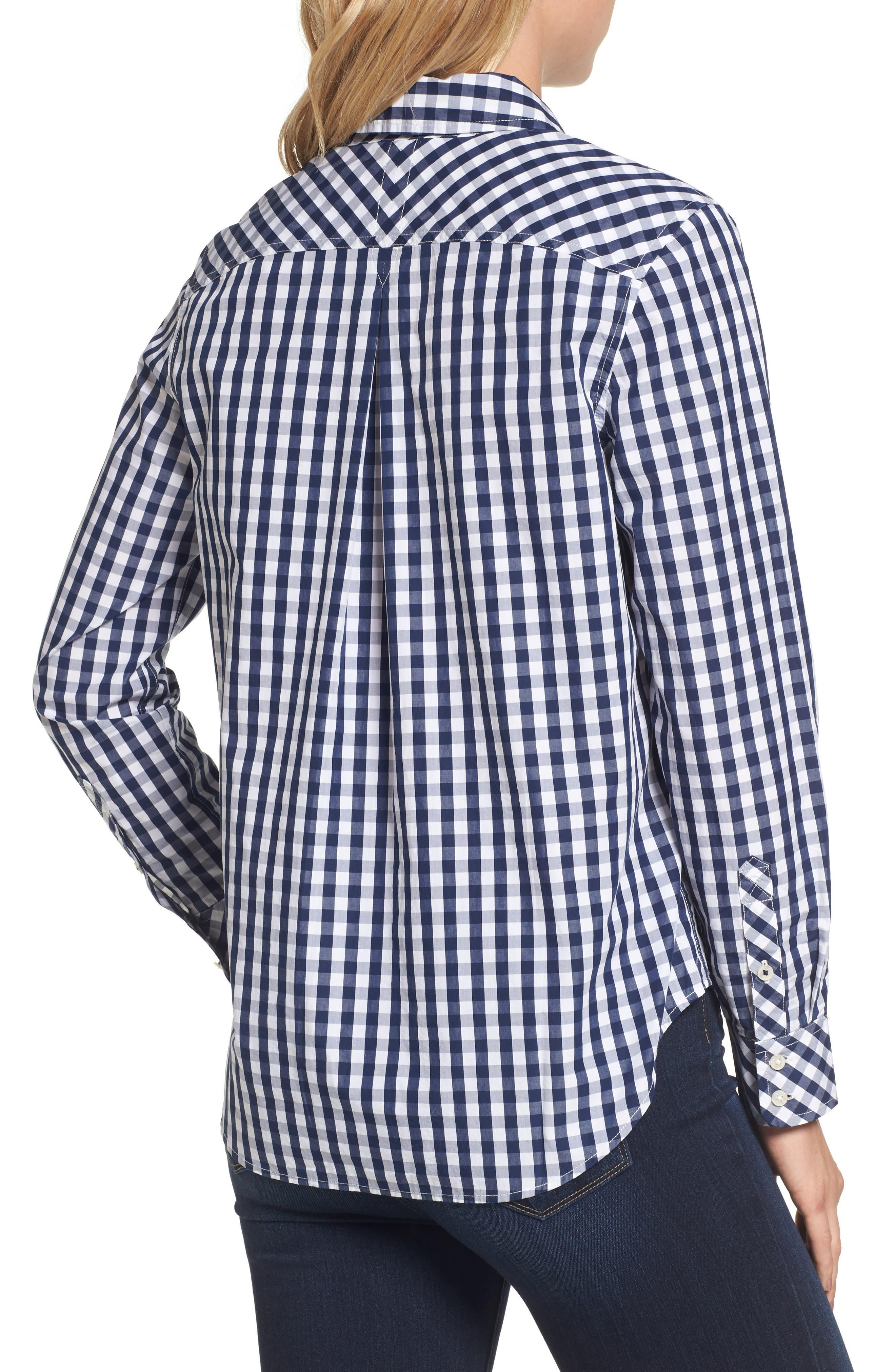Seabreeze Gingham Pocket Shirt,                             Alternate thumbnail 2, color,                             Deep Bay