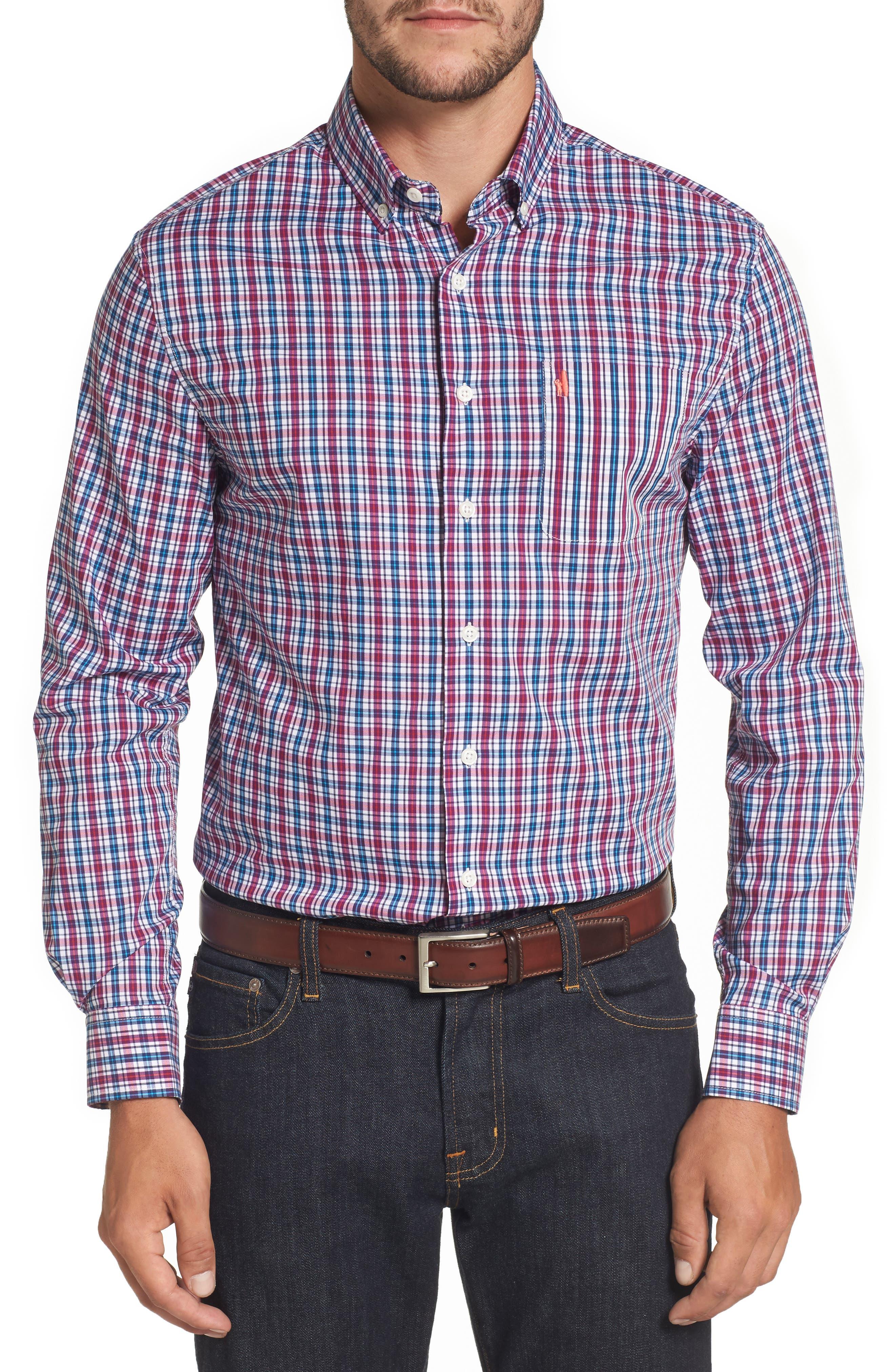 Parklan Check Sport Shirt,                         Main,                         color, Amethyst