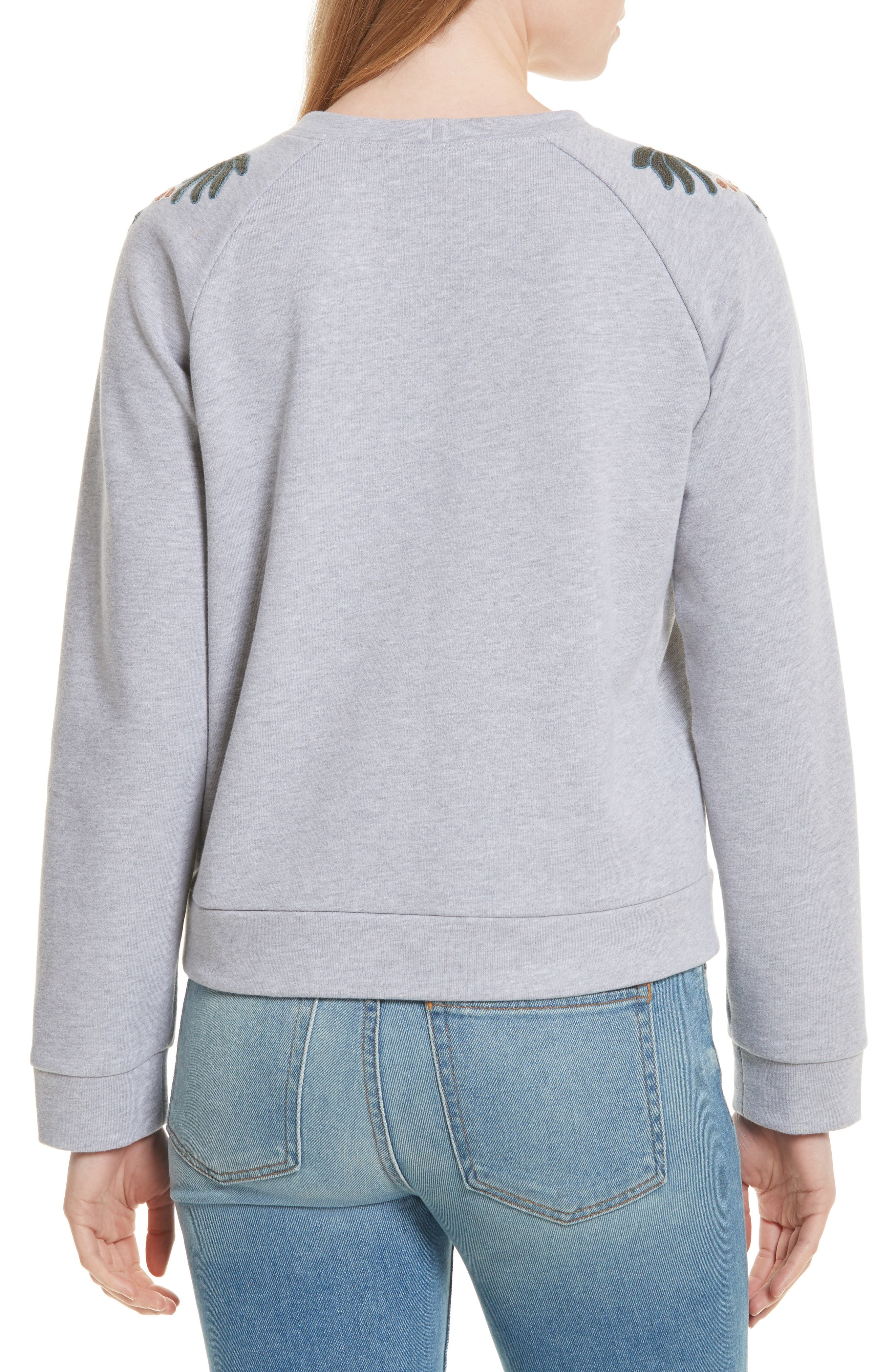 Jennings Embroidered Sweatshirt,                             Alternate thumbnail 2, color,                             Heather Grey