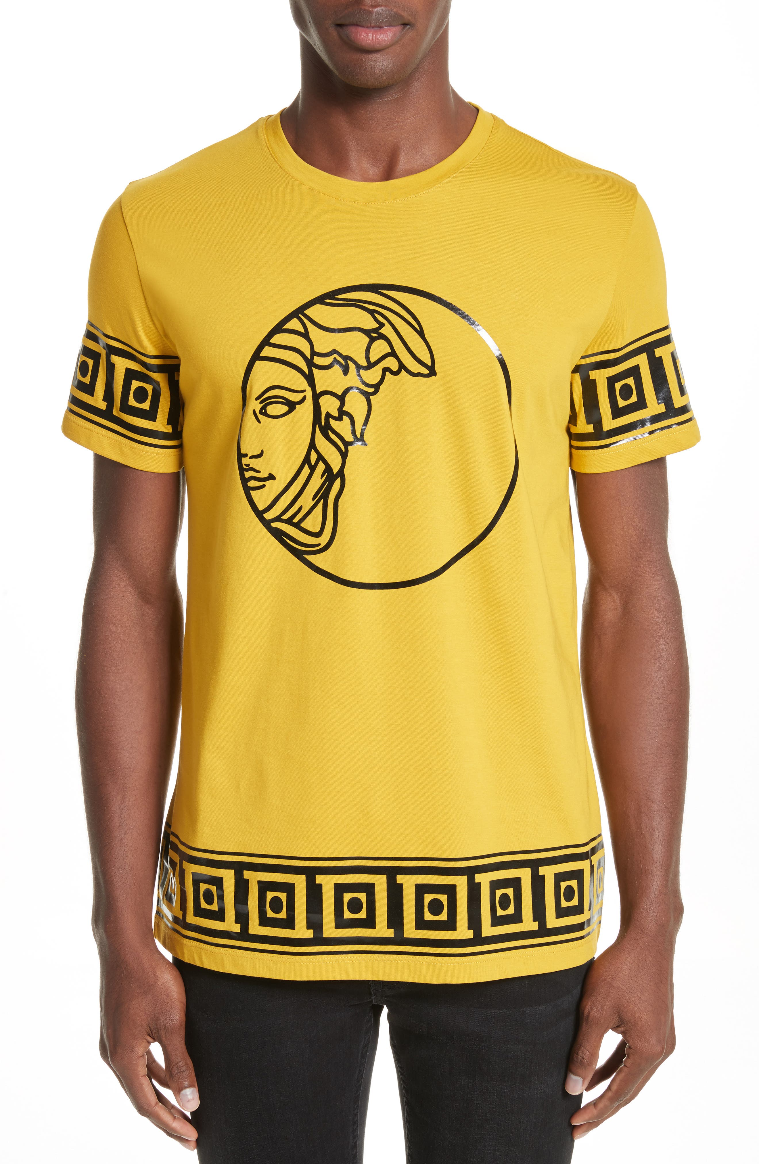 Versace Collection Tonal Medusa Print T-Shirt