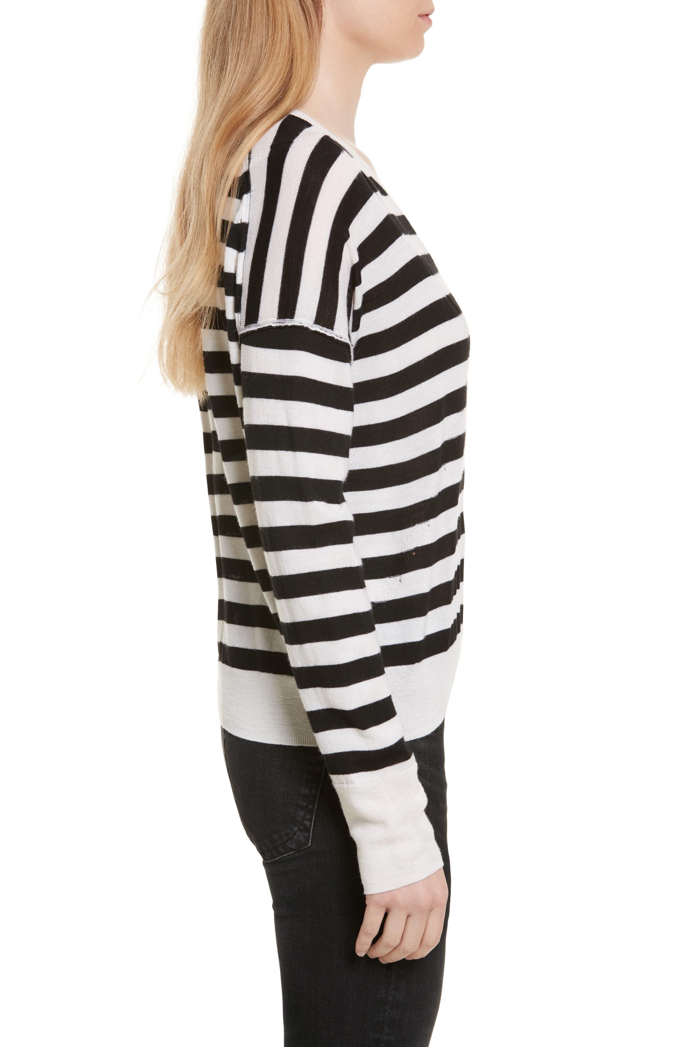 Alternate Image 3  - rag & bone/JEAN Bevan Stripe Wool Sweater