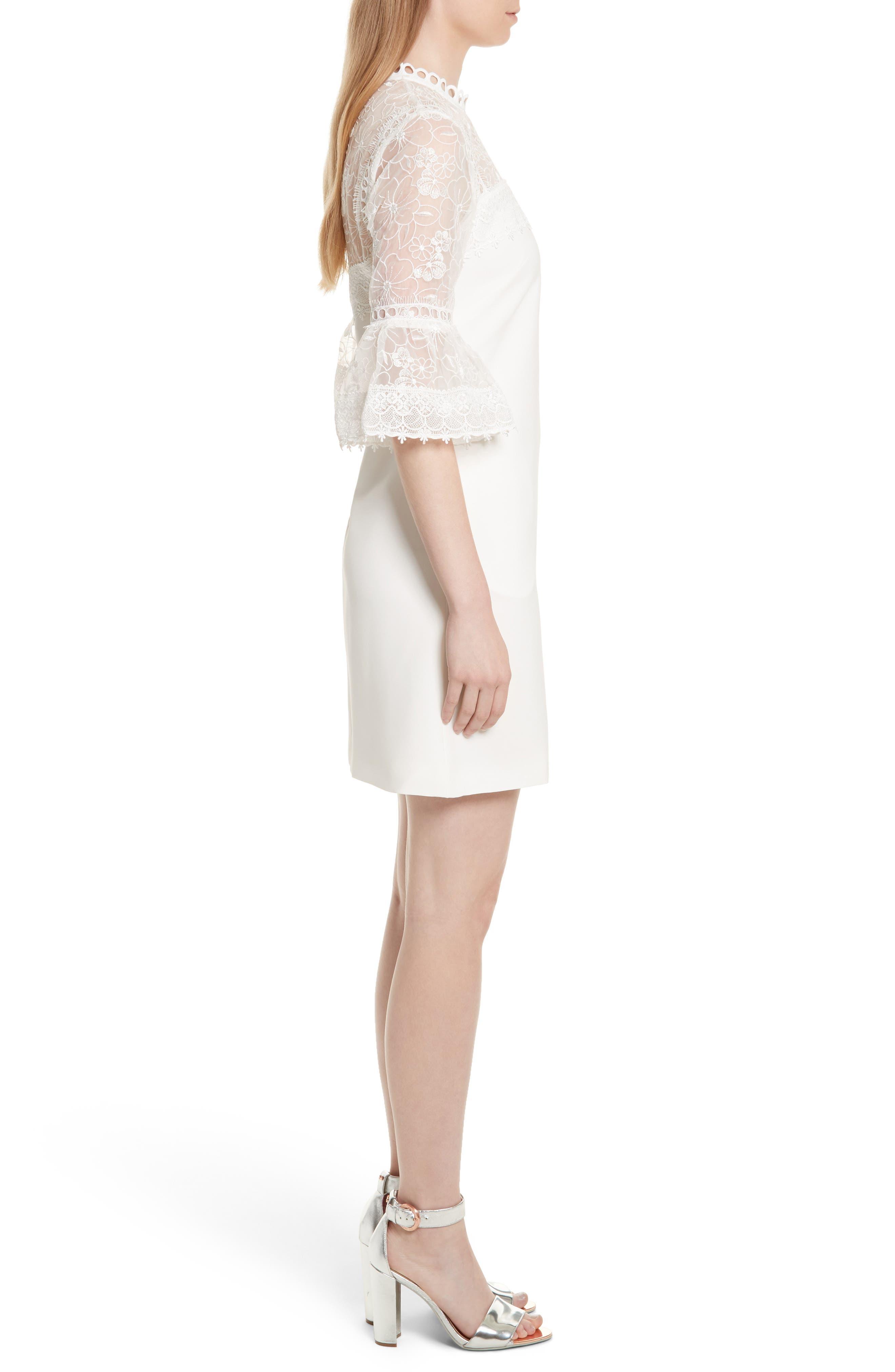 Alternate Image 4  - Ted Baker London Raechal Lace Sleeve A-Line Dress