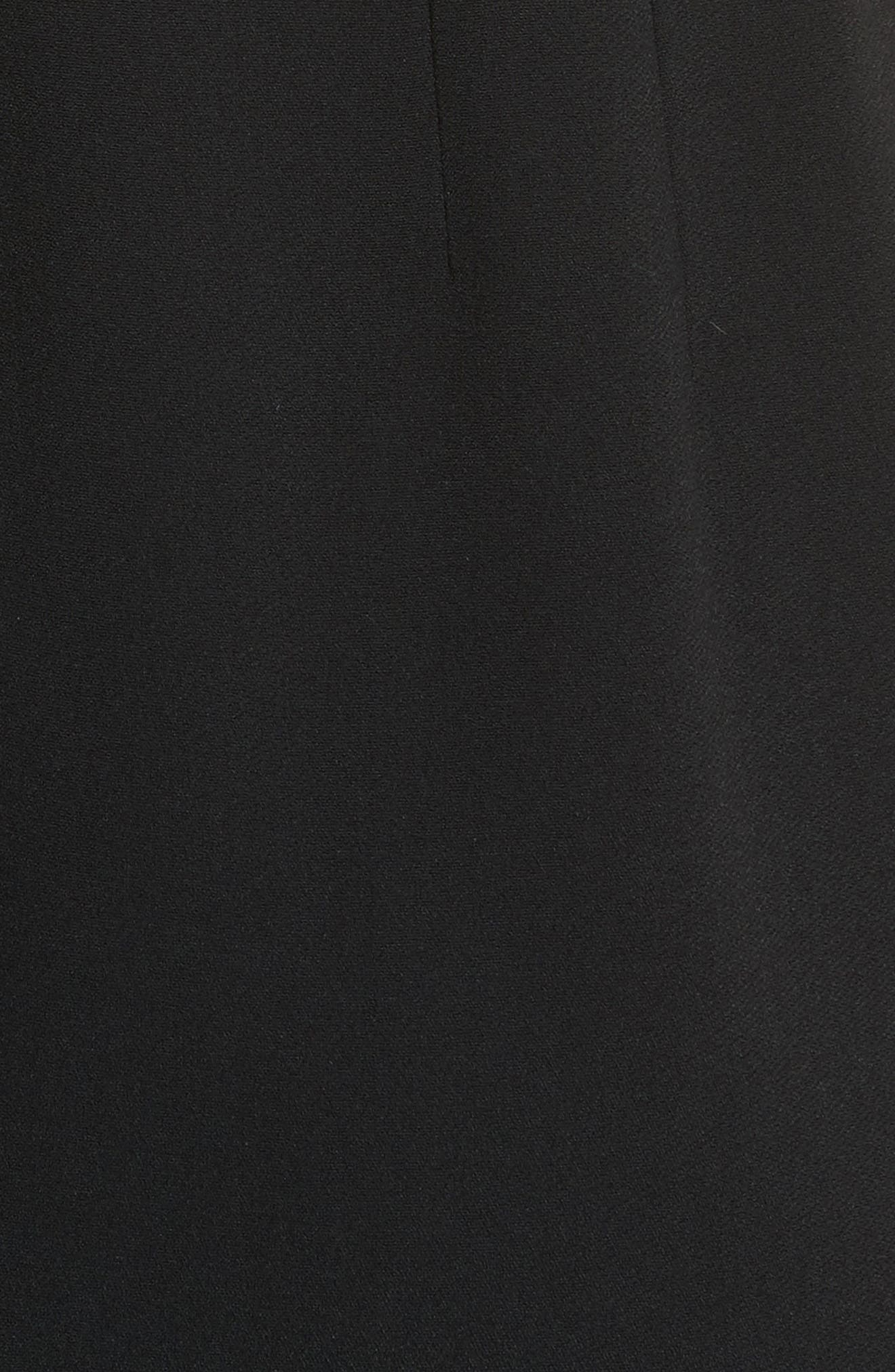 Stretch Cady Sheath Dress,                             Alternate thumbnail 5, color,                             Nero