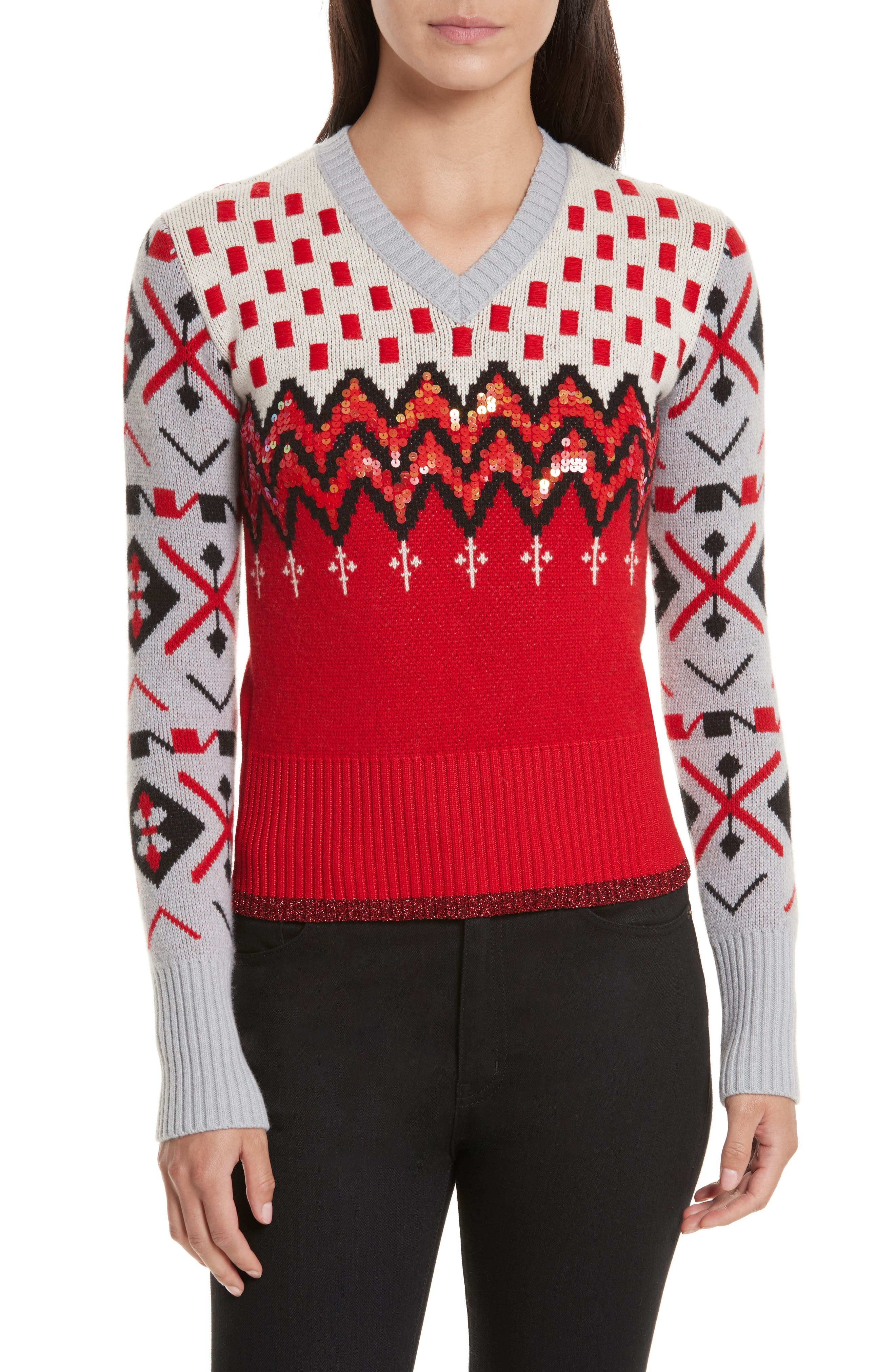 COACH 1941 Wool & Cashmere Jacquard Sweater