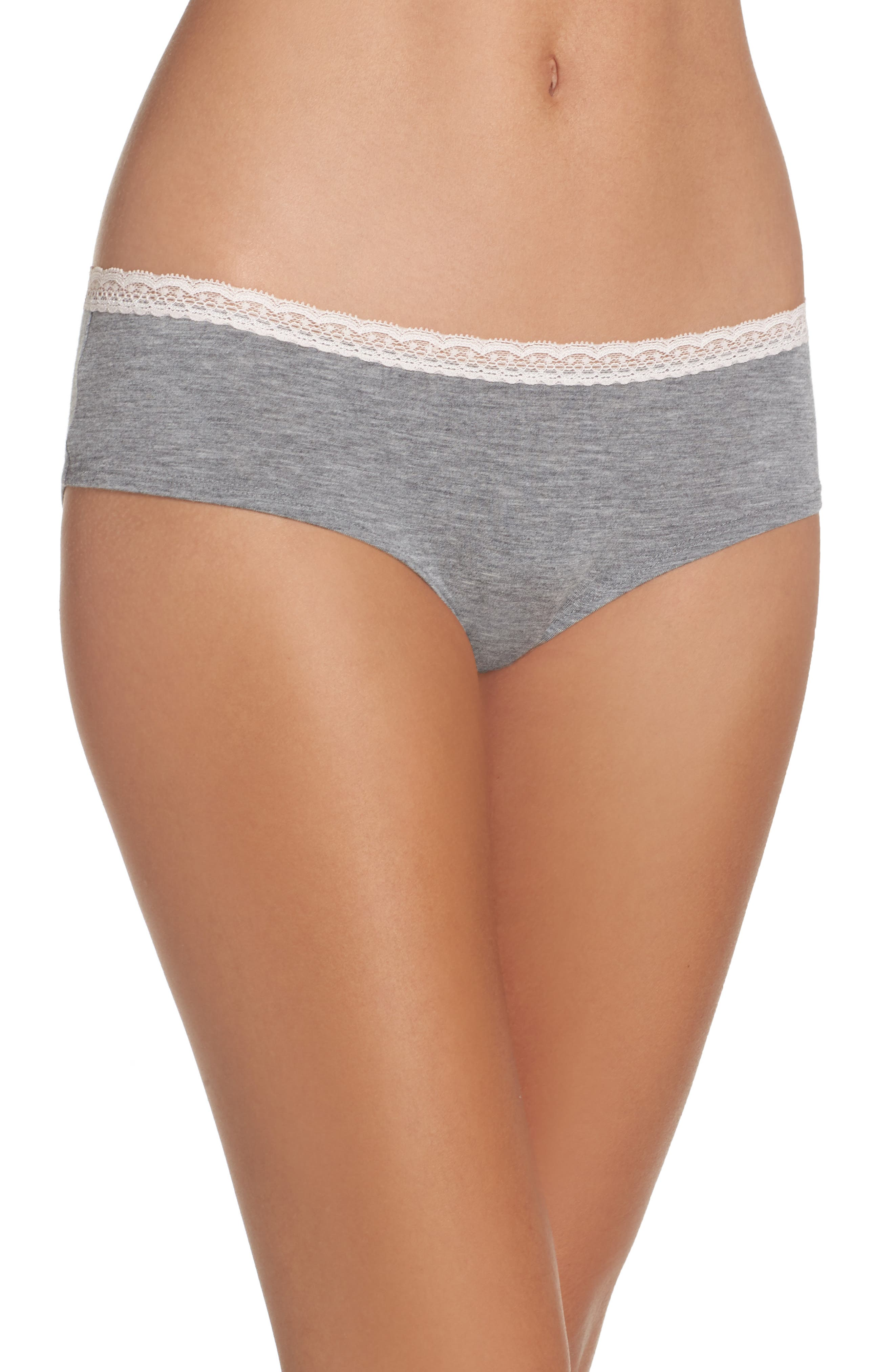 Dreamy Hipster Briefs,                             Main thumbnail 1, color,                             Grey Heather