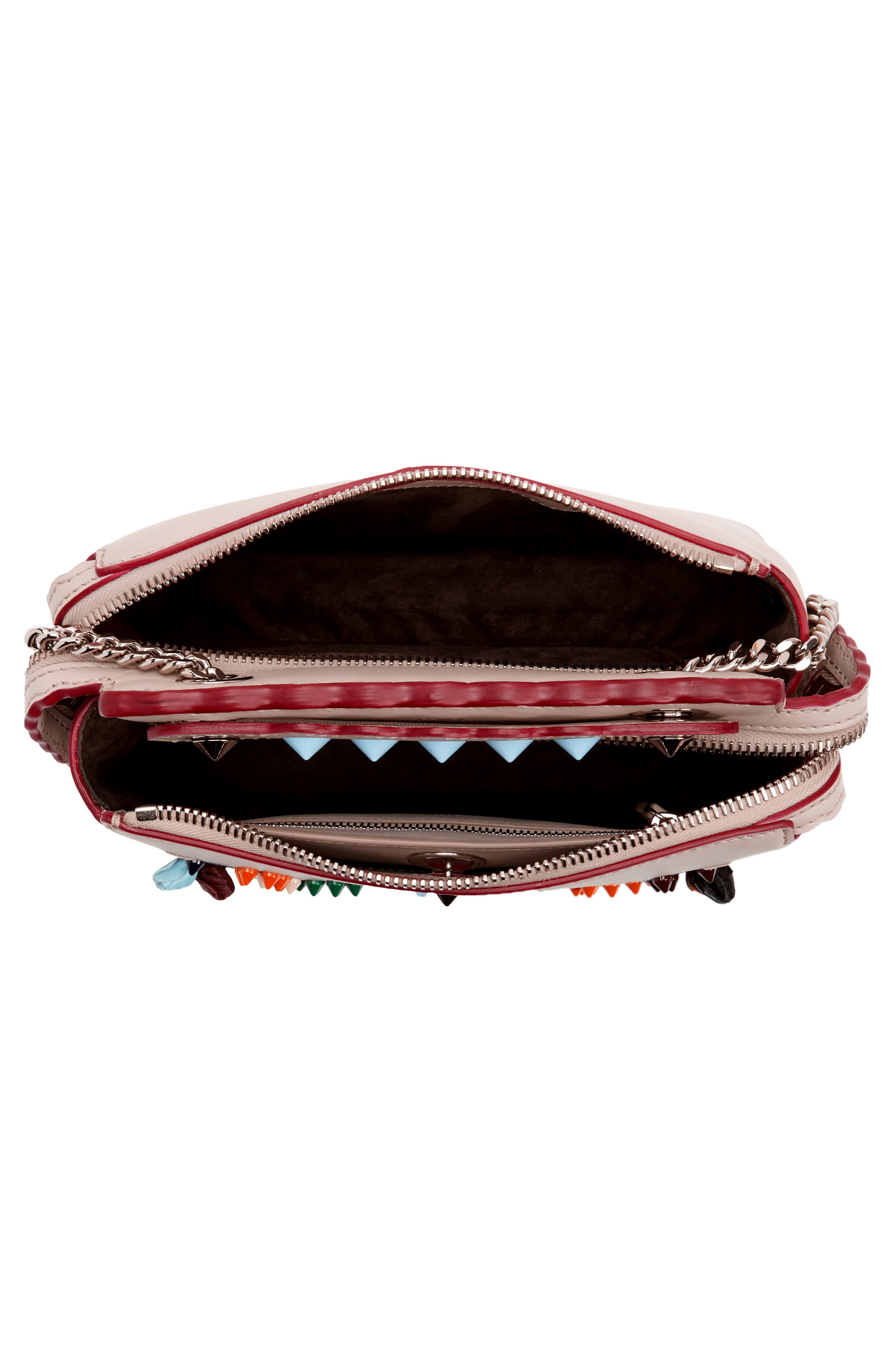 Alternate Image 4  - Fendi Small Dotcom Leather Shoulder Bag