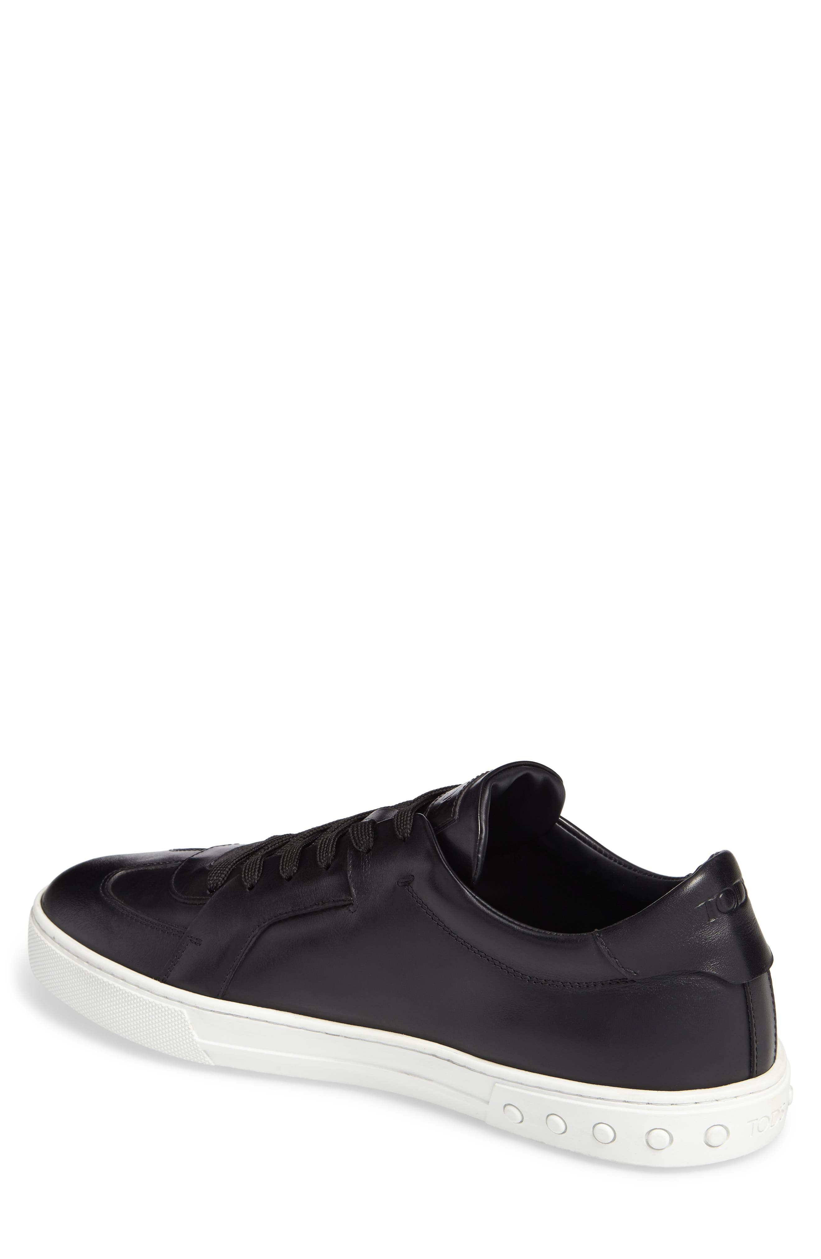Cassetta Leather Sneaker,                             Alternate thumbnail 2, color,                             Black Leather