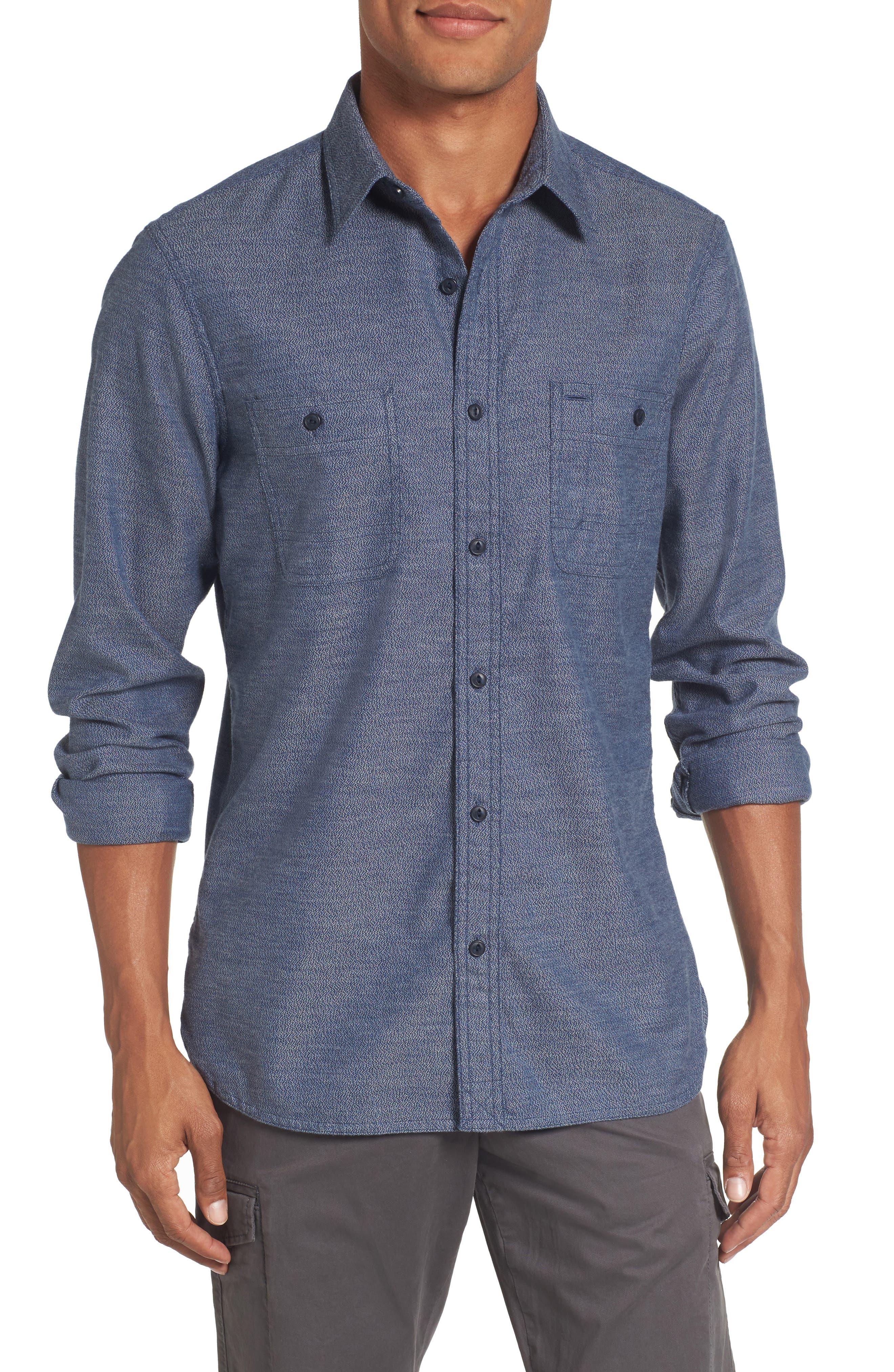 Main Image - Nordstrom Men's Shop Slim Fit Jaspé Sport Shirt (Regular & Tall)