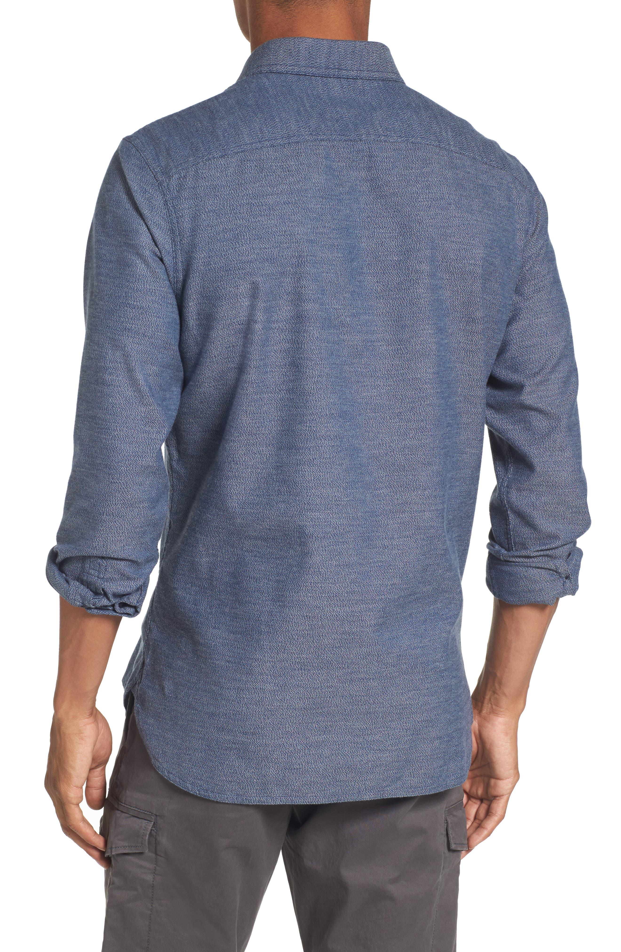 Alternate Image 2  - Nordstrom Men's Shop Slim Fit Jaspé Sport Shirt (Regular & Tall)