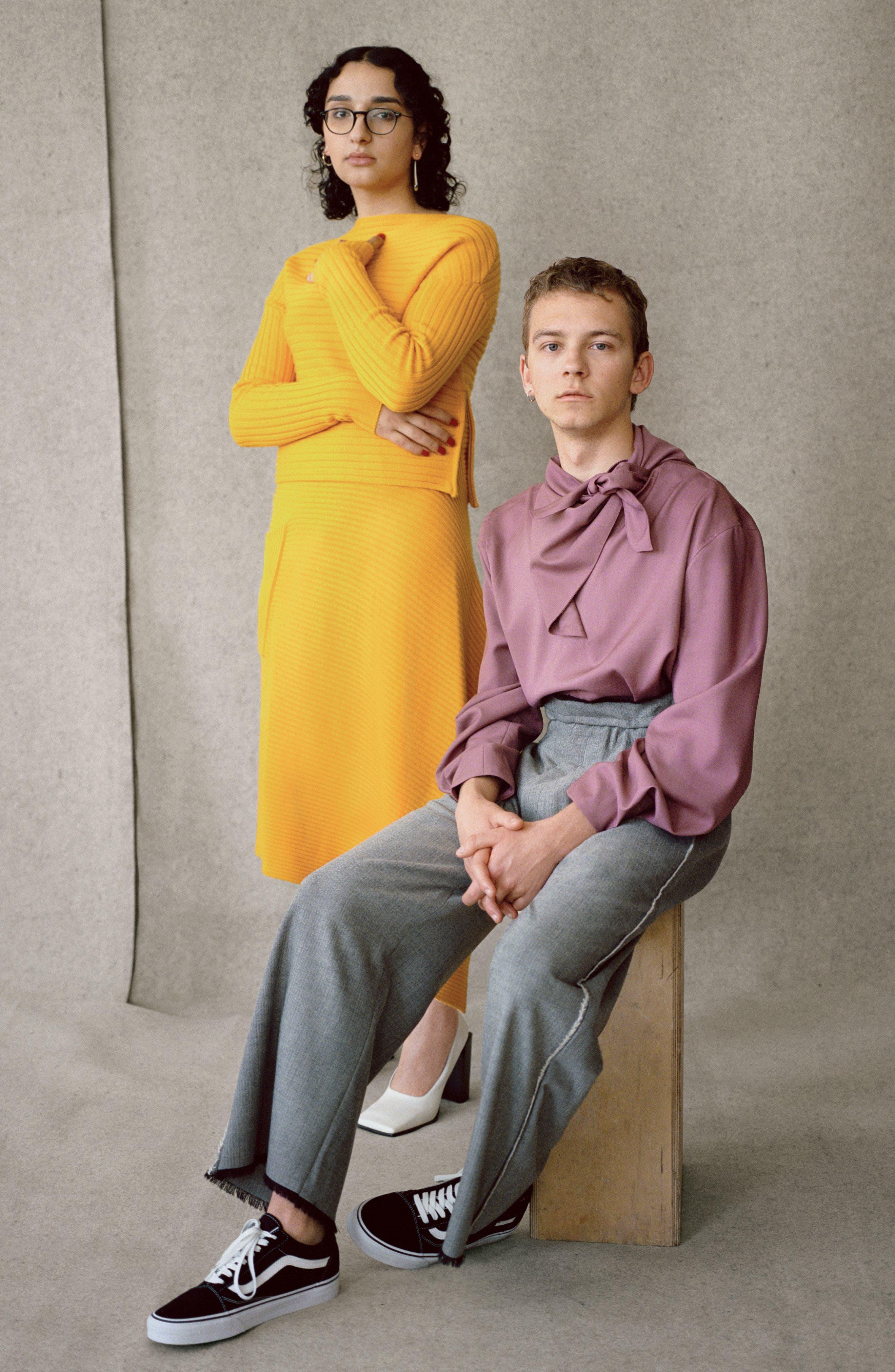 Alternate Image 7  - Tibi Ribbed Wool Sweater