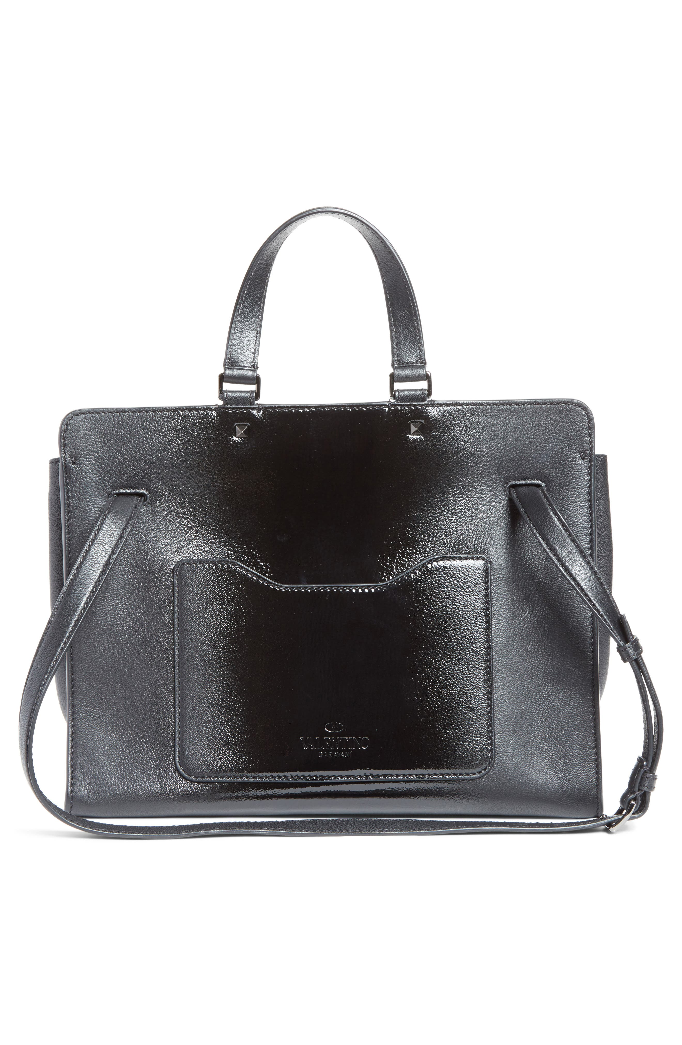 Large Pieper Leather Tote,                             Alternate thumbnail 2, color,                             Nero